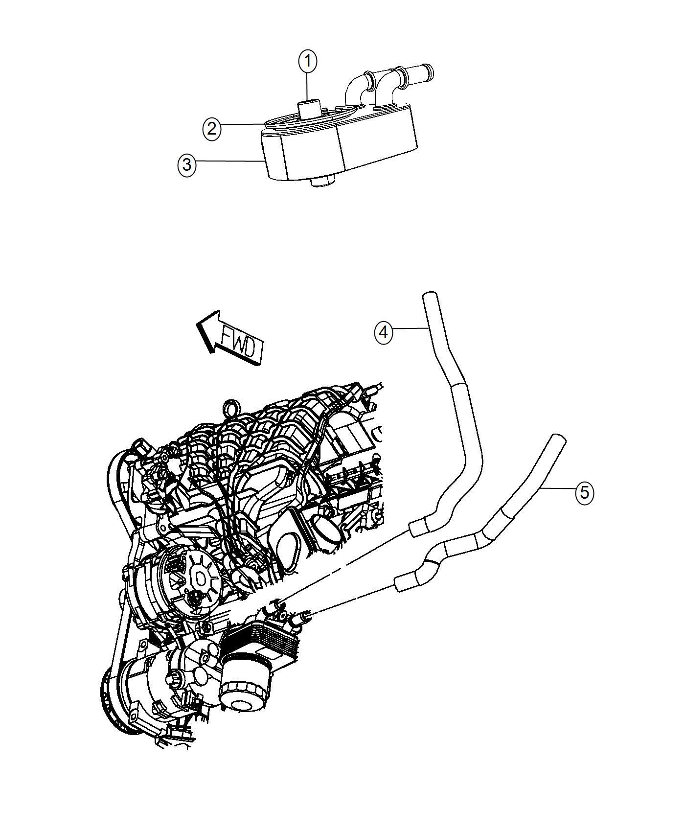 Dodge Journey Hose Oil Cooler Inlet Engine Oil