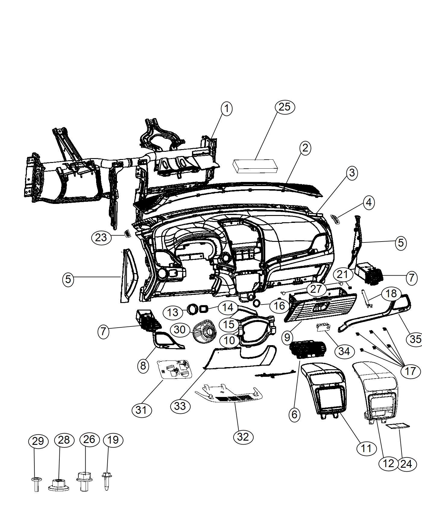 Dodge Journey Applique Instrument Panel Aad Trim