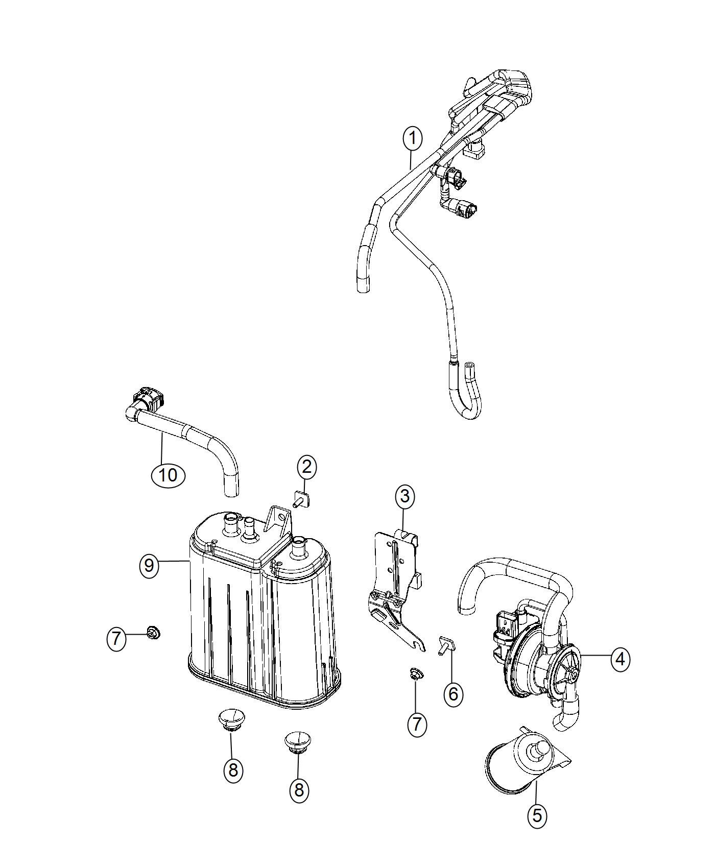 2017 Dodge Viper Bolt. Leak detection pump bracket mtg