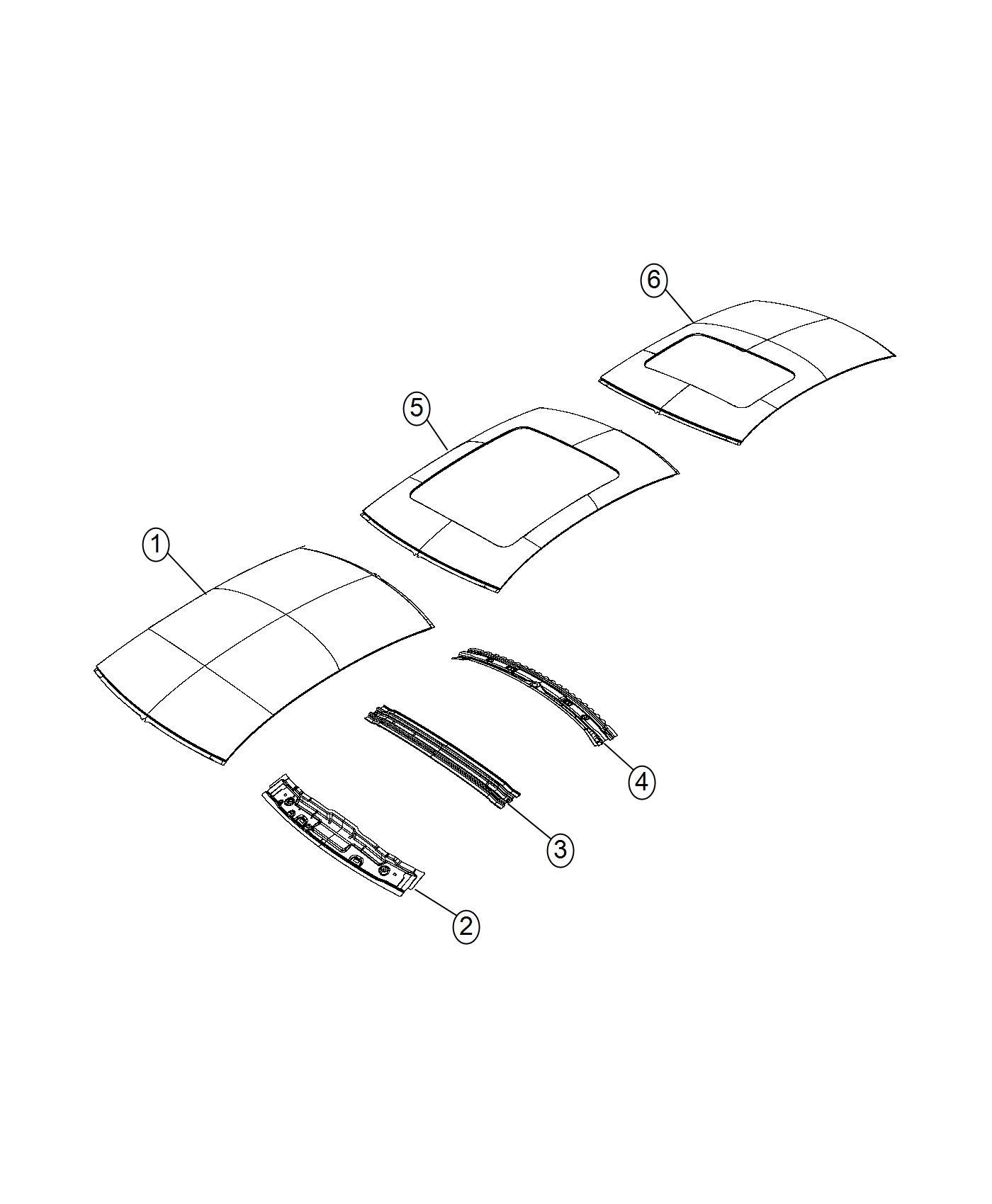 chrysler 200 header roof front