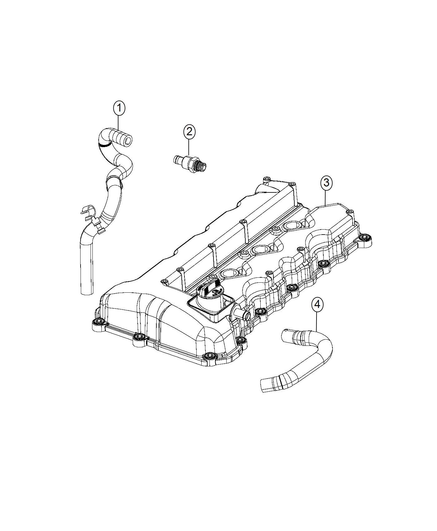 2016 Chrysler 200 Hose. Pcv. Crankcase, ventilation