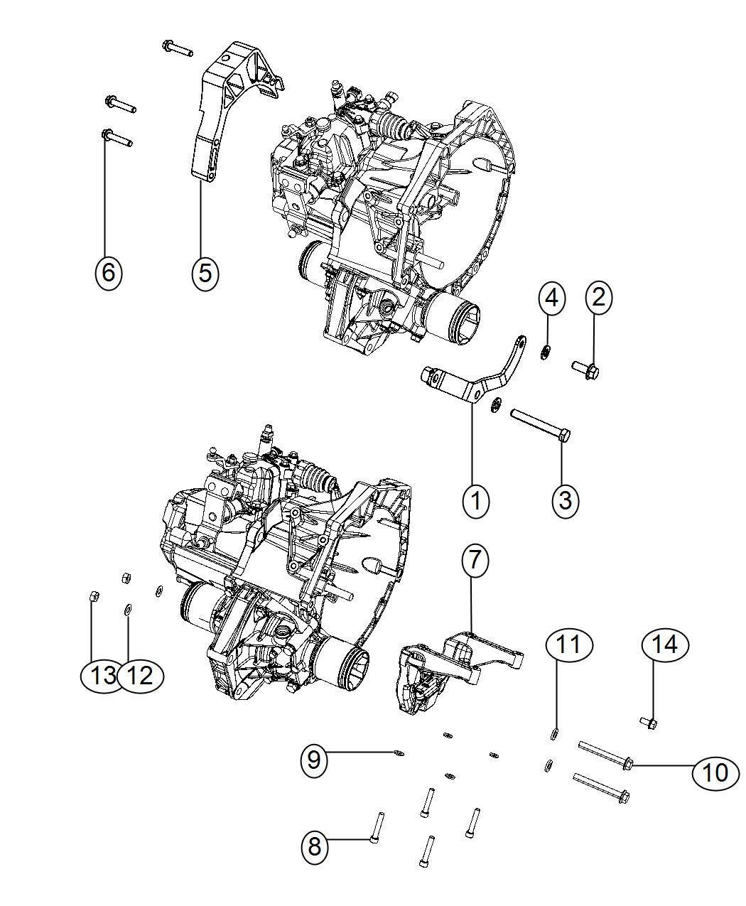 Fiat 500 Bracket. Differential. Manual, transmission, spd
