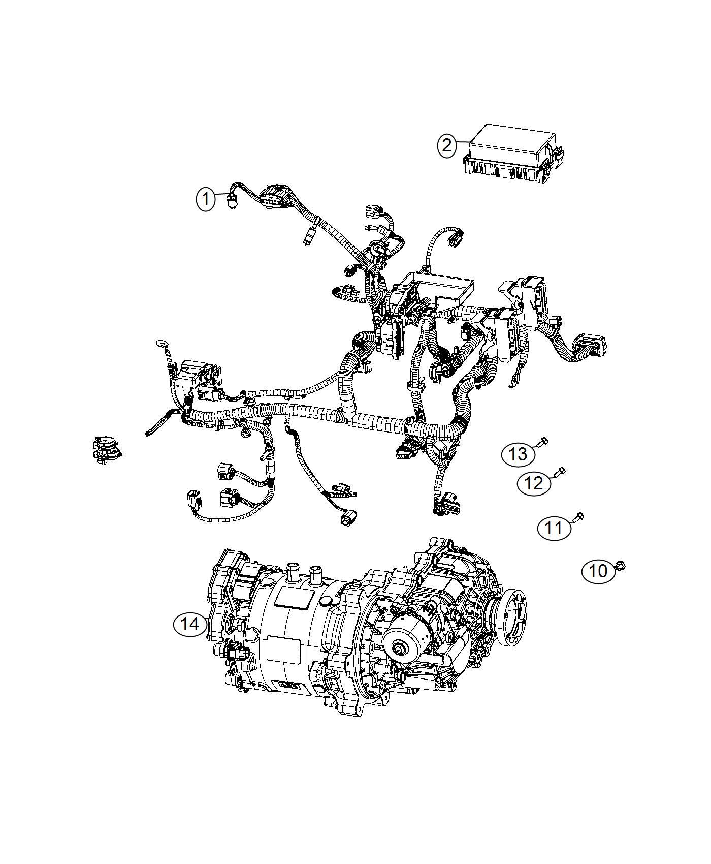Fiat 500E Wiring. Motor. Electric, mopar, engine, bev