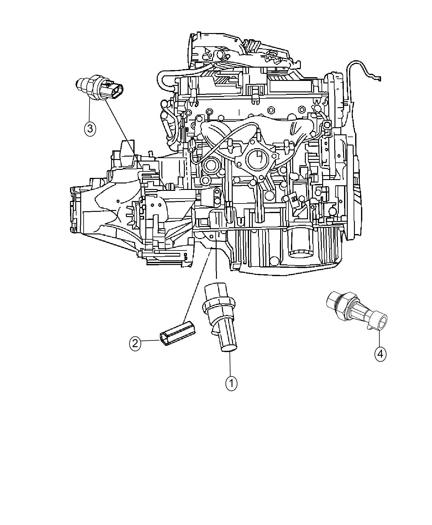 2017 Jeep Compass Shield. Wiring. Powertrain, engine