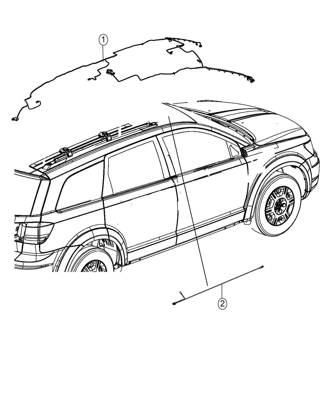 2017 Dodge Journey Wiring. Header. Us, canada. [rr view