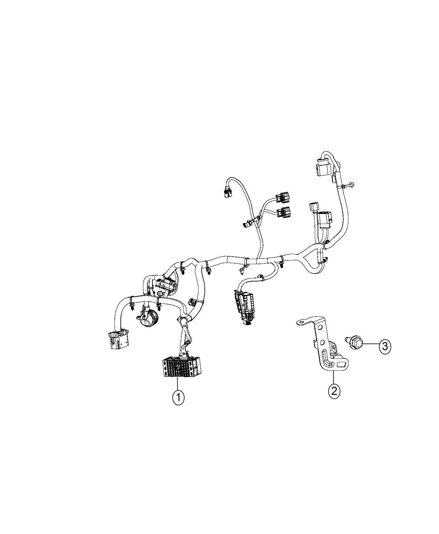 2017 Jeep Cherokee Screw. Hex flange head. Ground, module