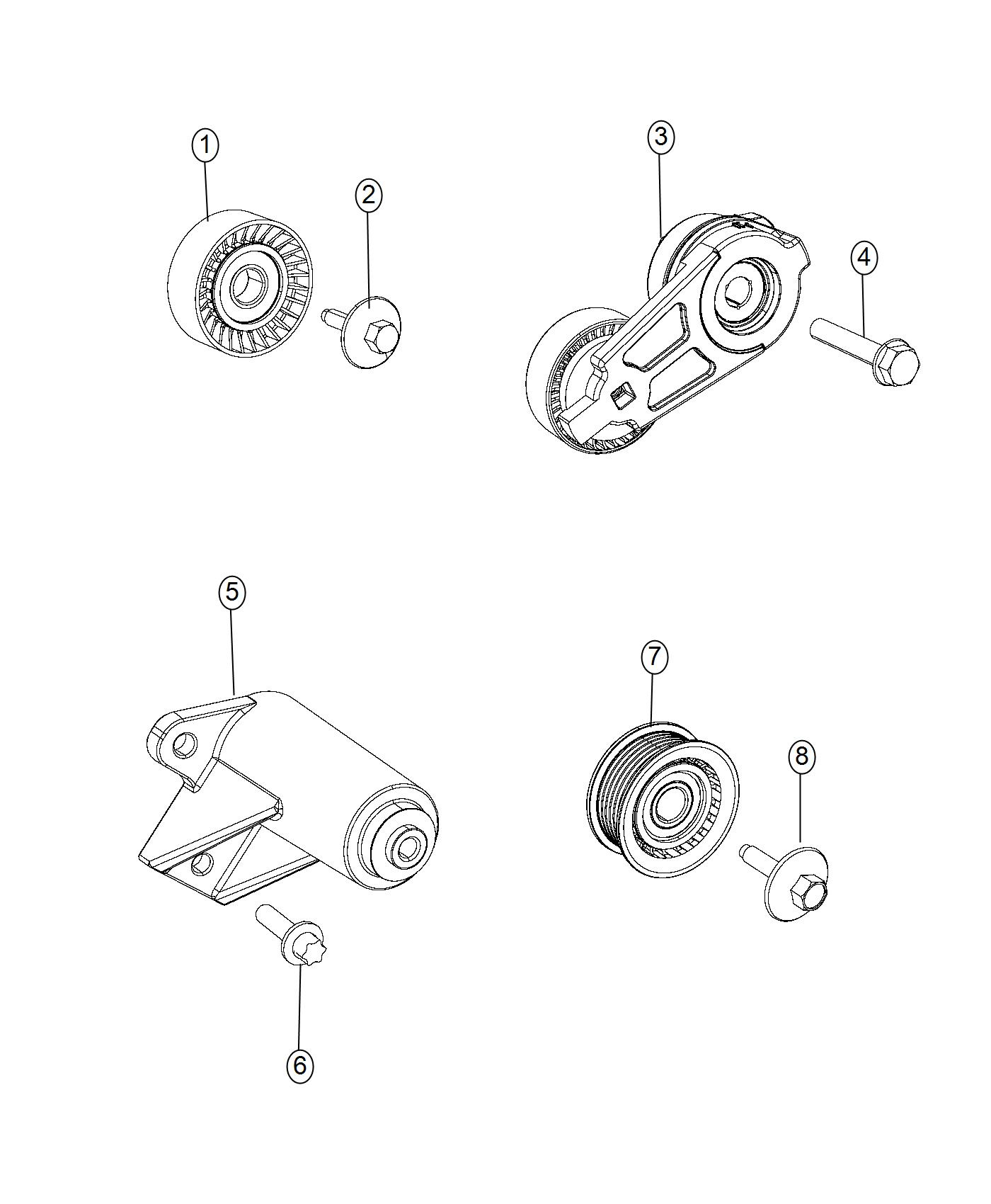 2017 Jeep Grand Cherokee Pulley. Idler. Related, pulleys