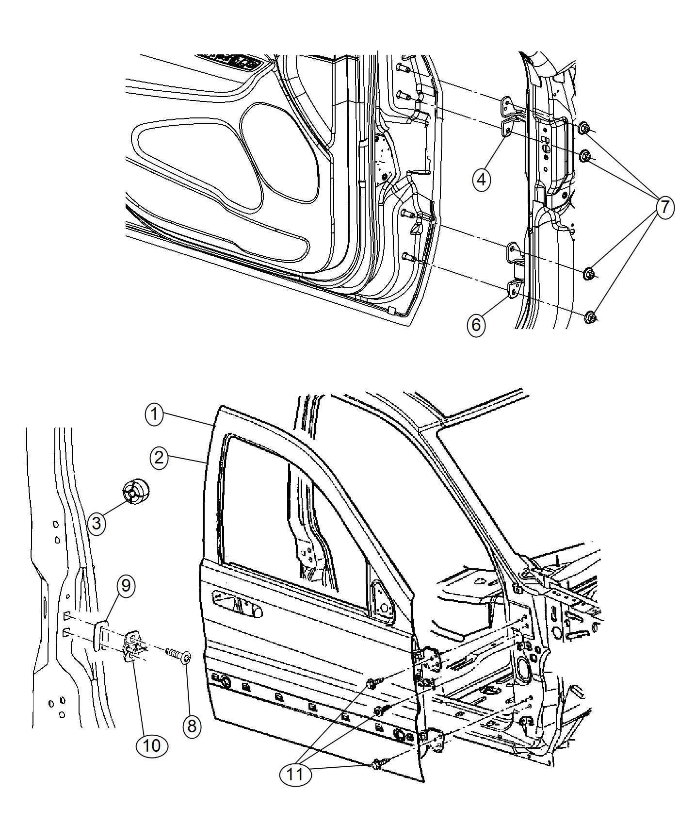 2017 Jeep Grand Cherokee Panel. Front door outer repair