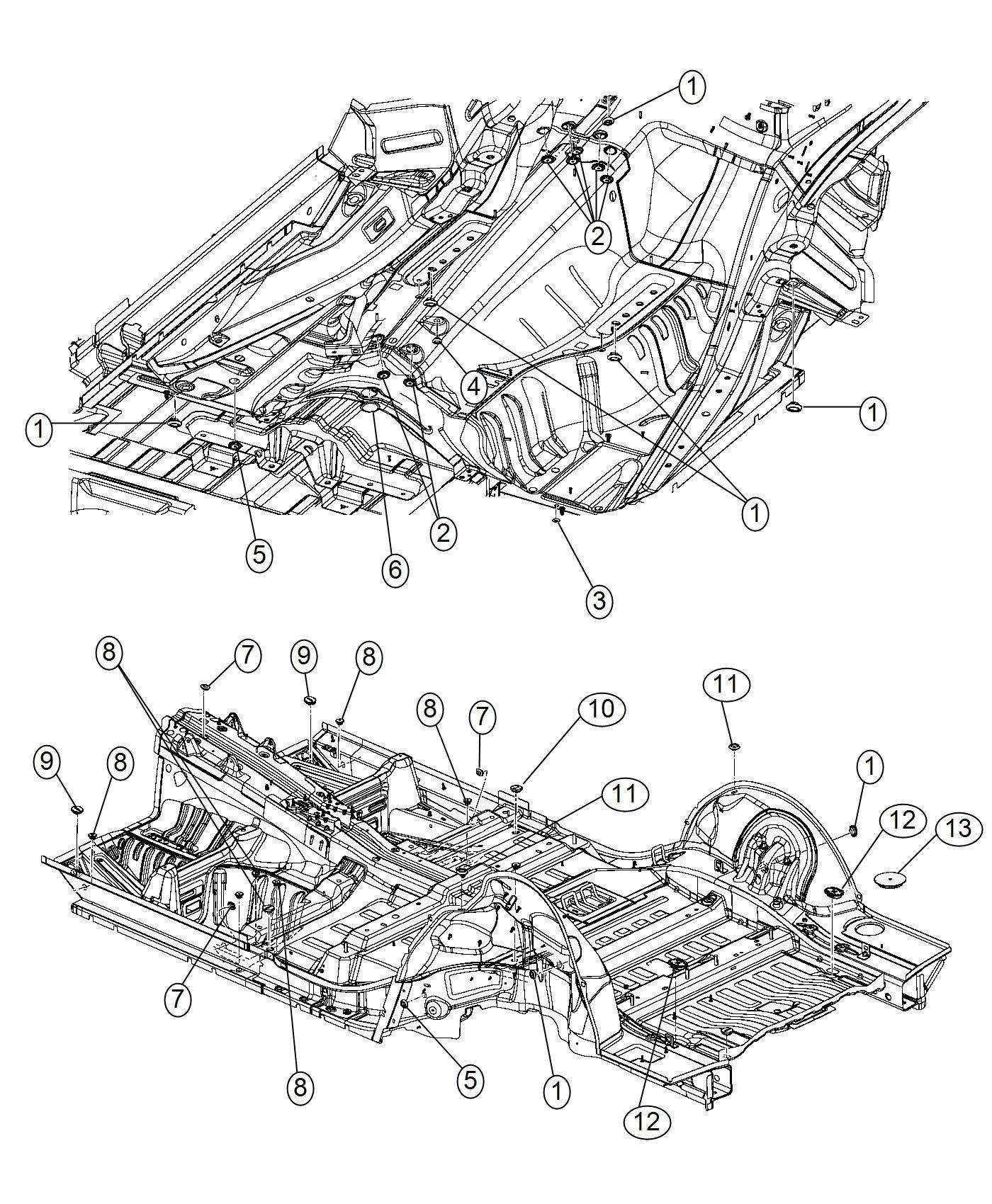 2017 Dodge Durango Plug. Sealing. 27mm, body side, body