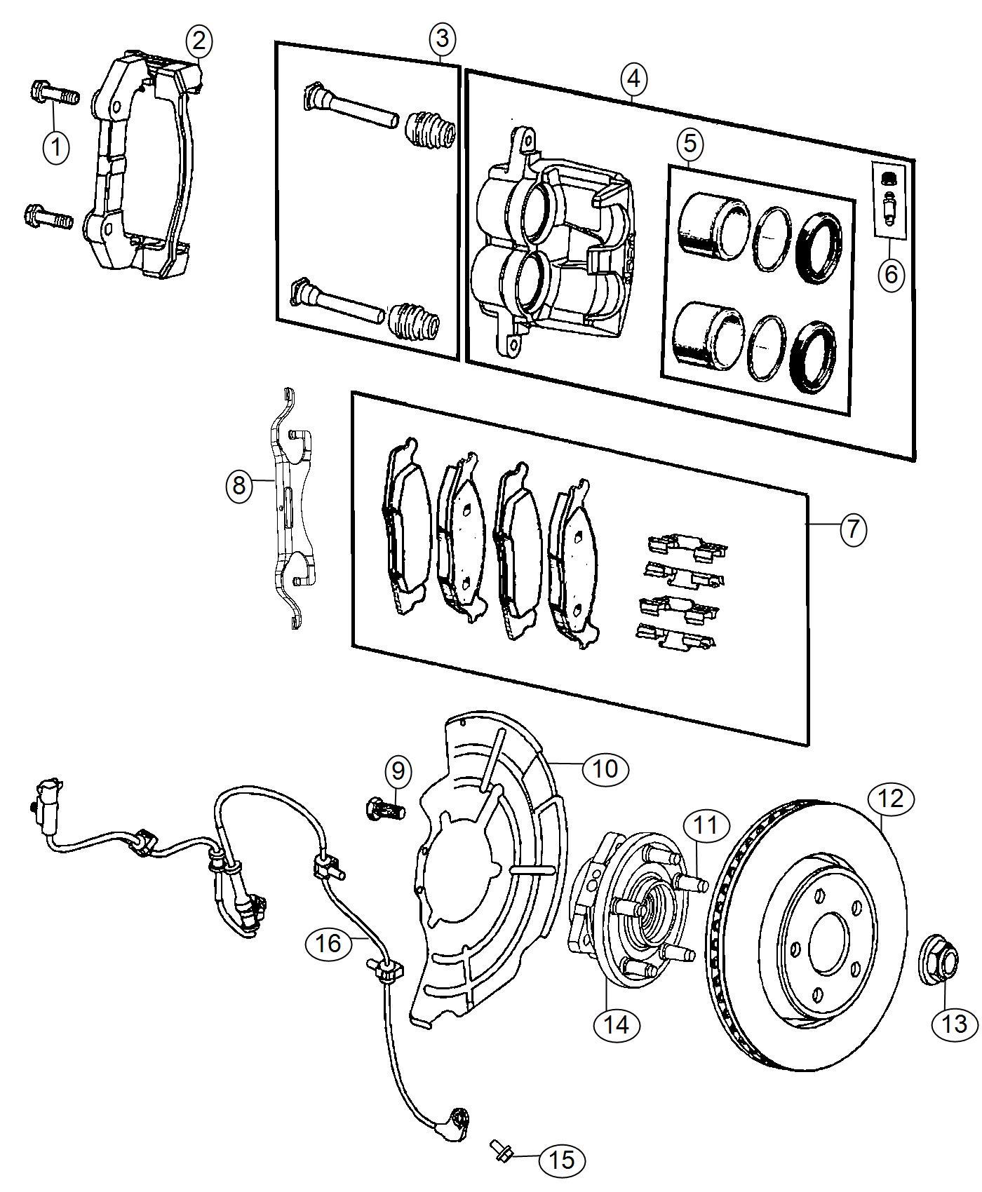 Dodge Durango Sensor Anti Lock Brakes Left Right