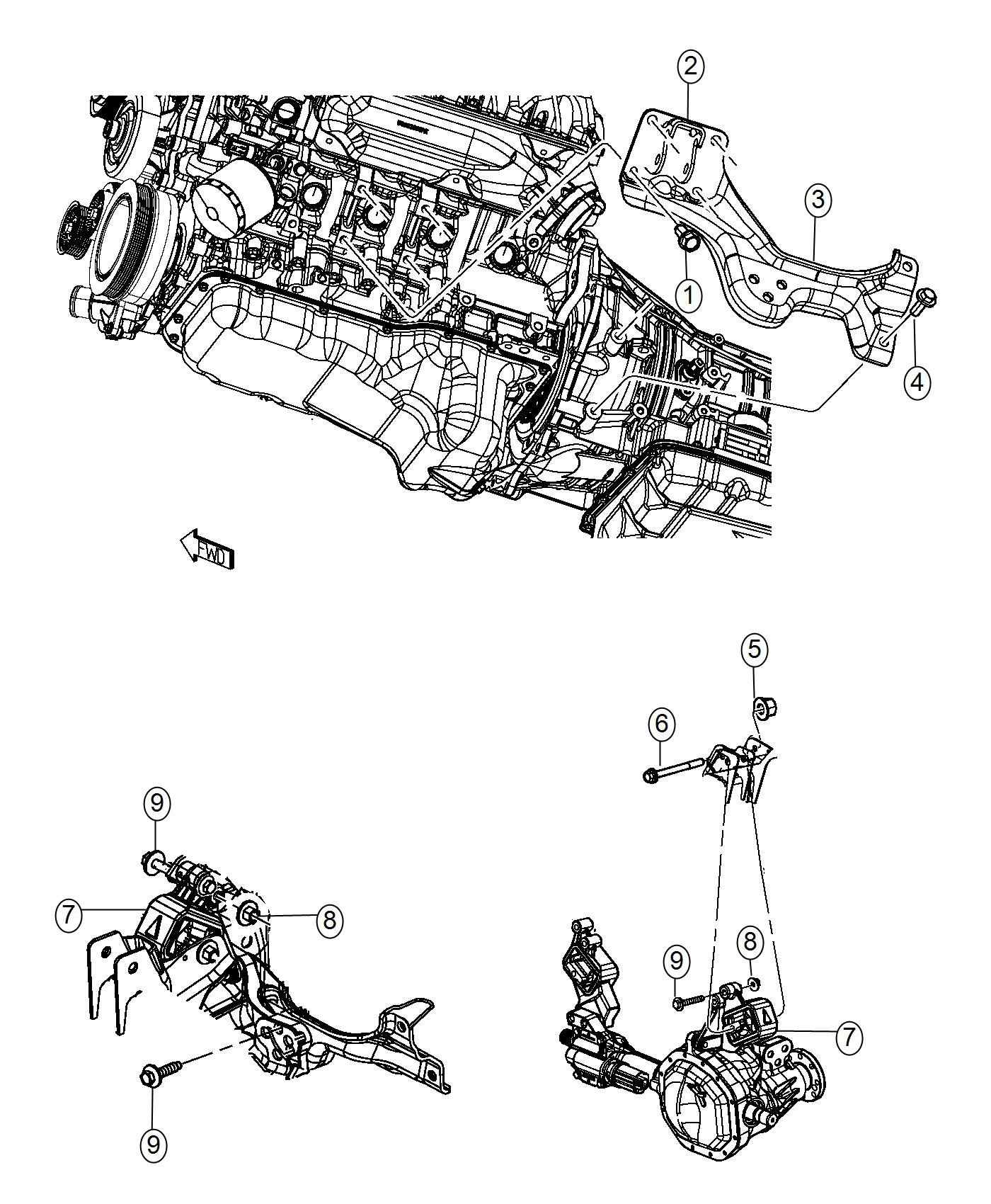 Ram Bracket Engine Mount Left Side Mounting