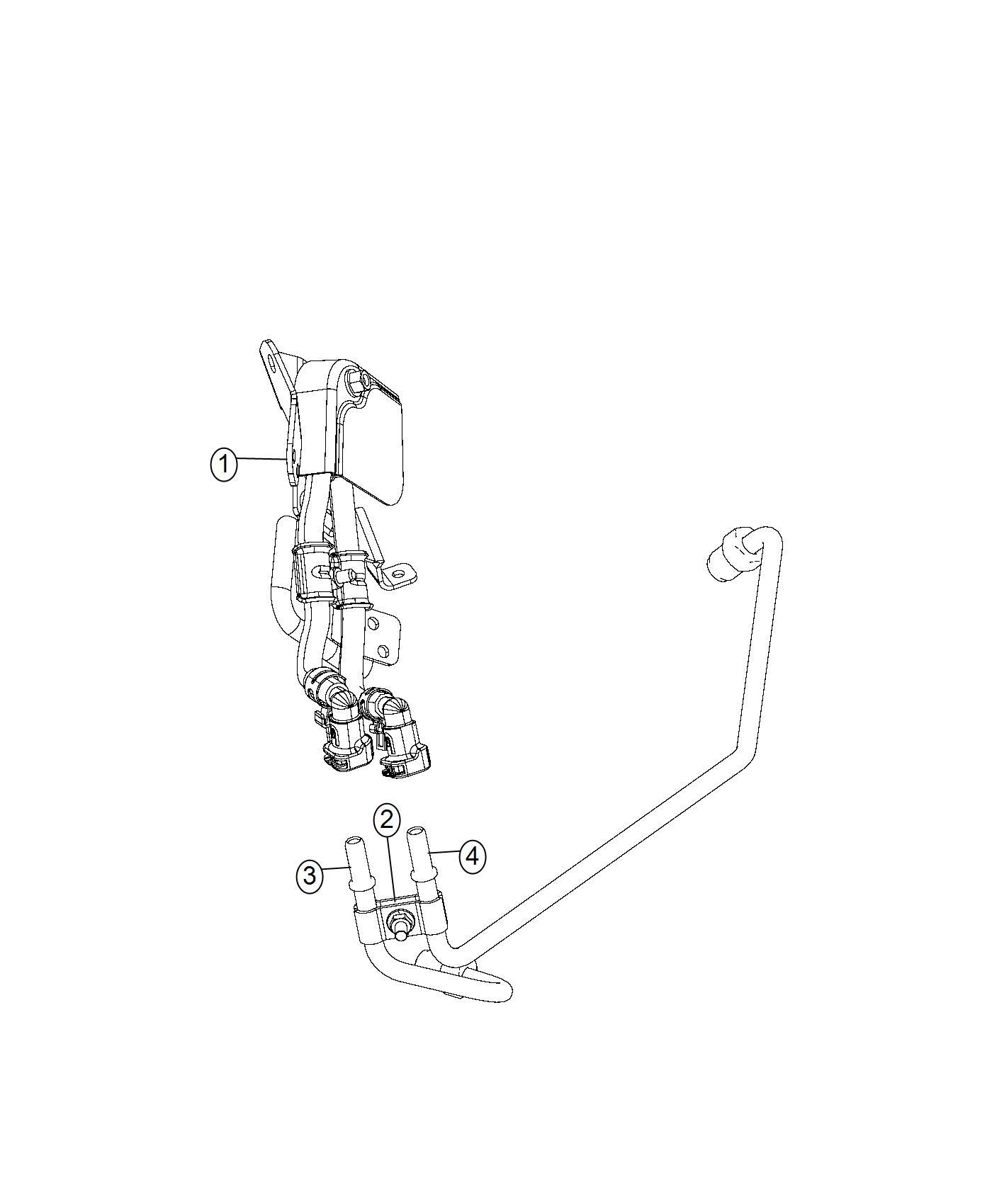 2017 Jeep Grand Cherokee Sensor. Differential pressure