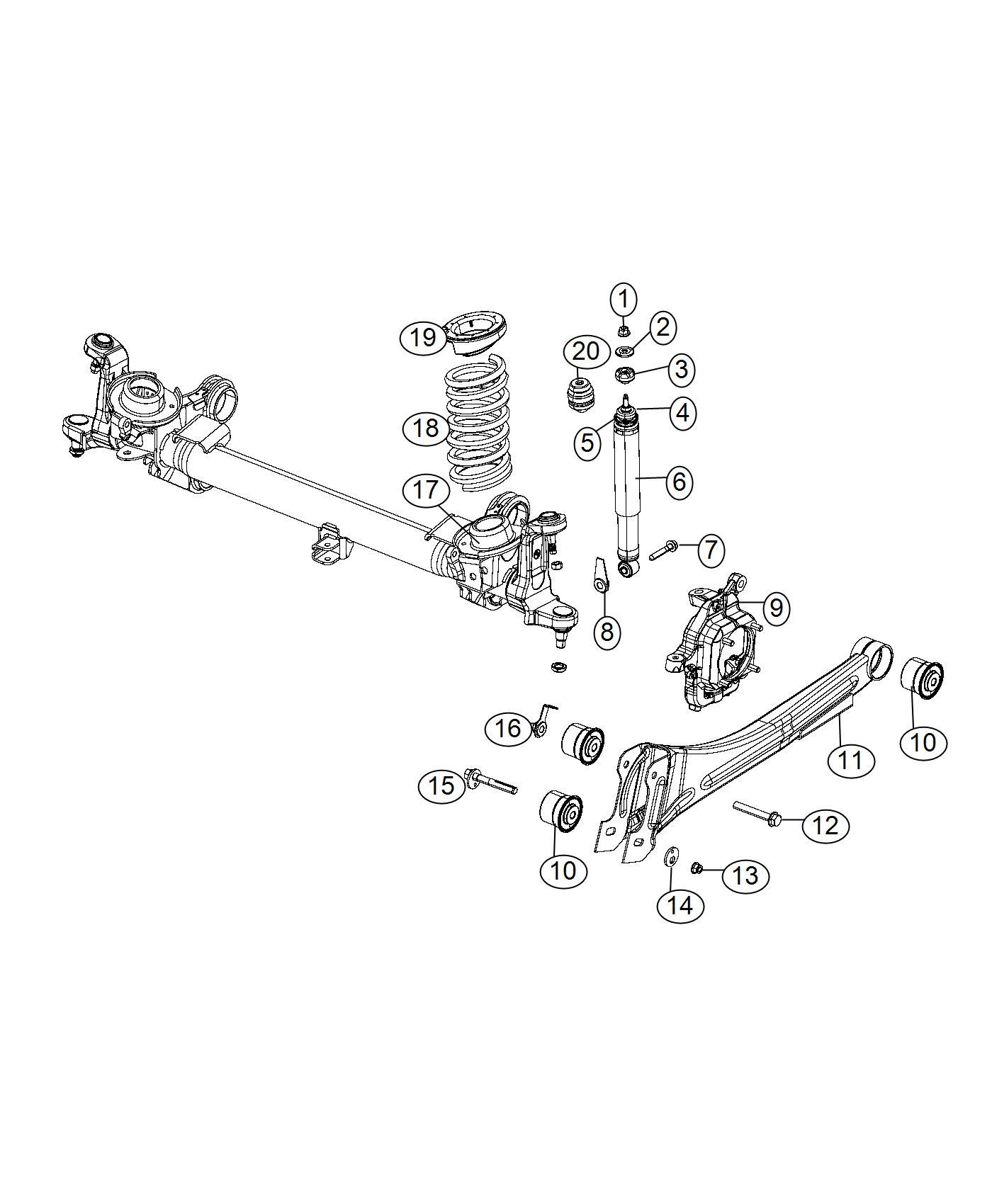 Ram Shock Absorber Kit Suspension Front Rear