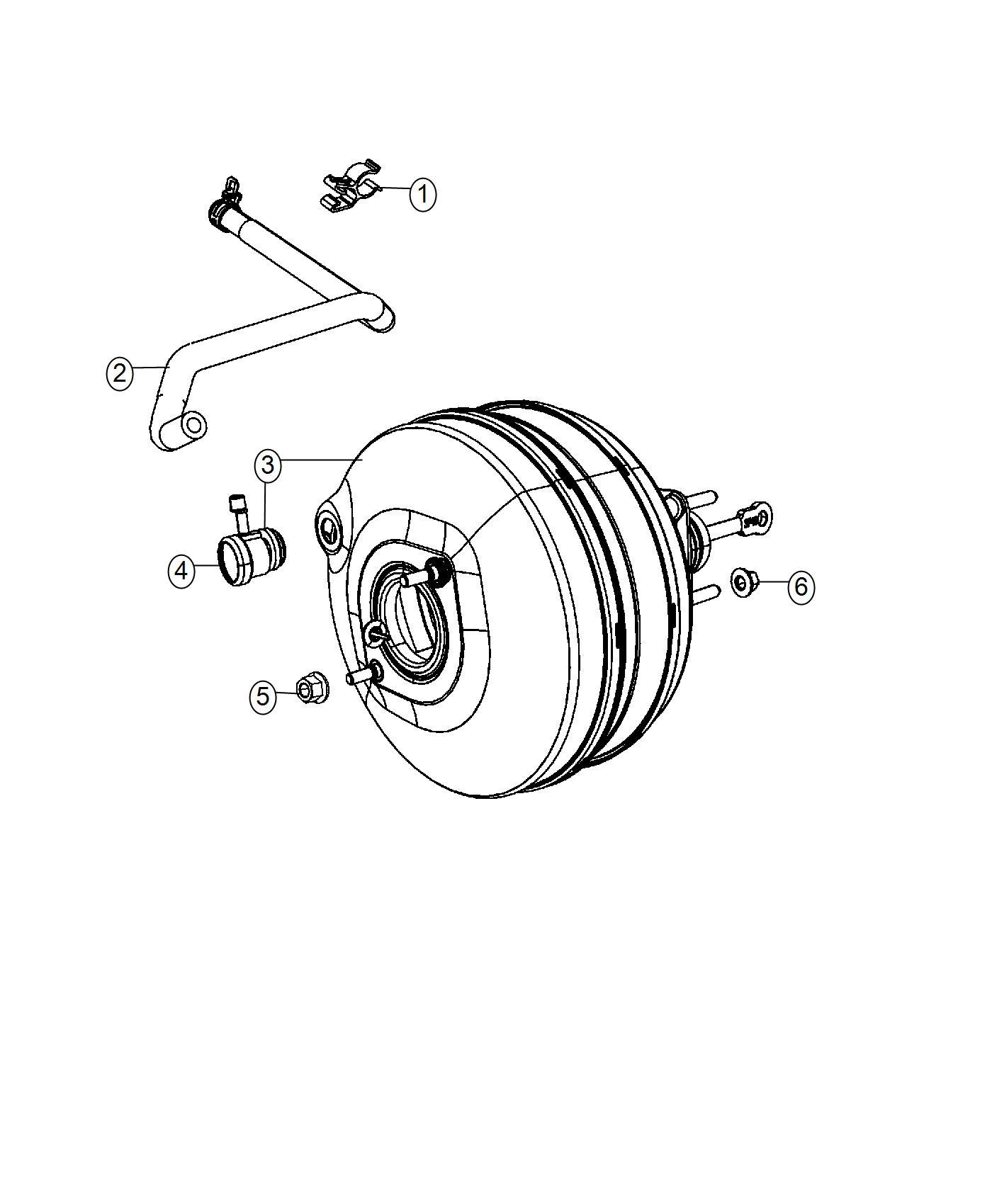 2017 Ram 2500 Booster. Power brake. Powerwagon, group