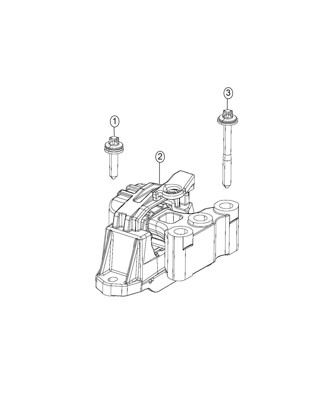 2016 Ram PROMASTER CITY WAGON SLT Isolator. Engine mount
