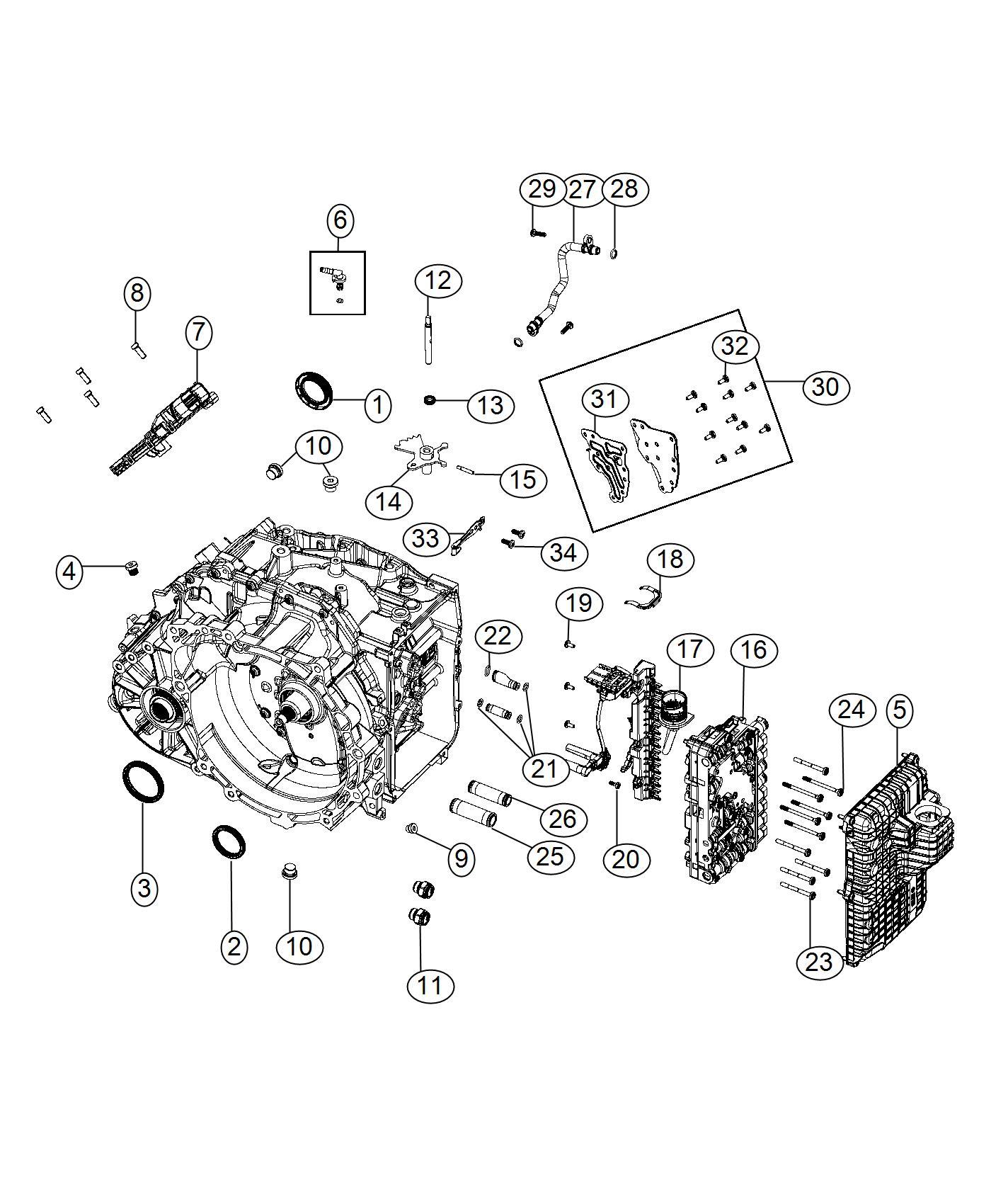 Ram Promaster City Wagon Retainer Wiring Harness