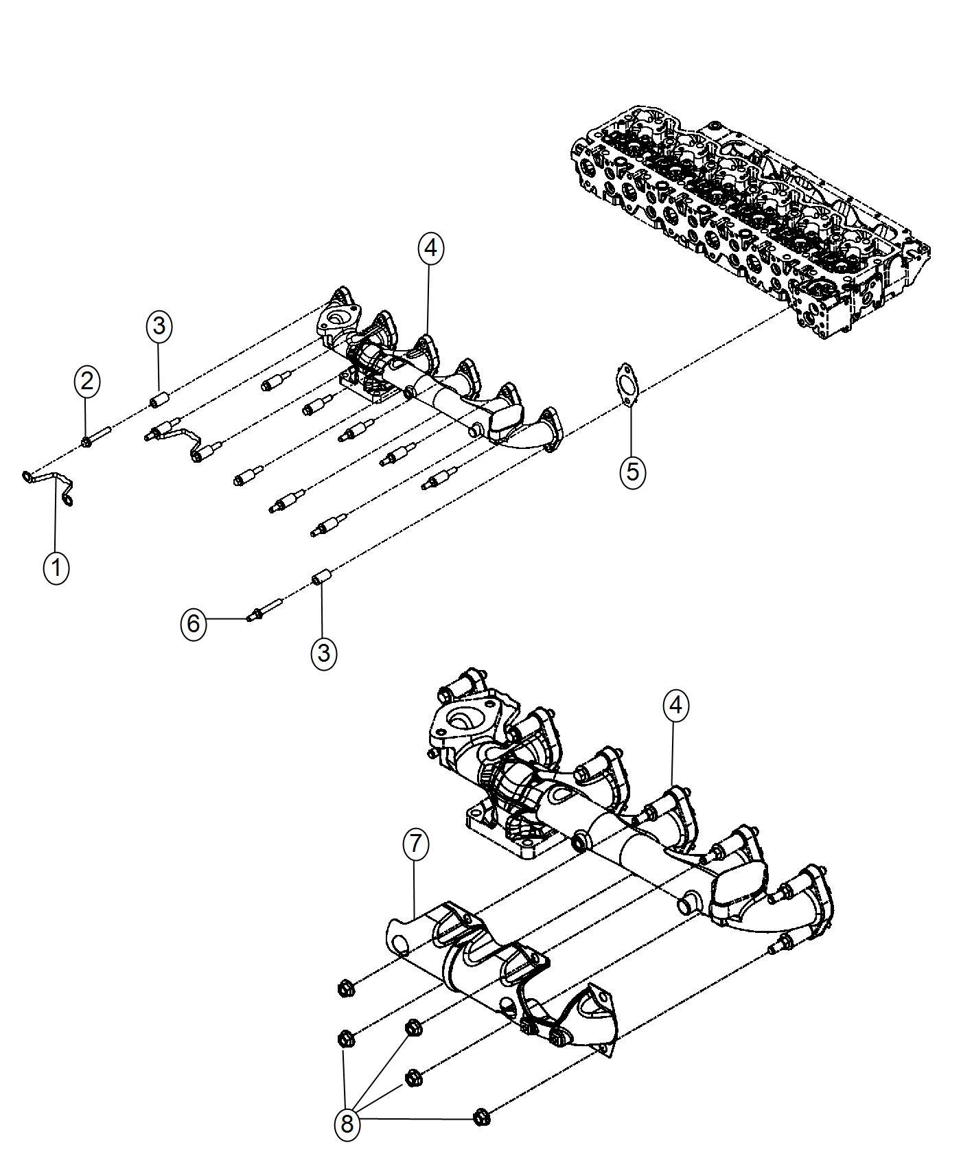2013 Dodge Ram 4500 Manifold. Exhaust. Emissions, state