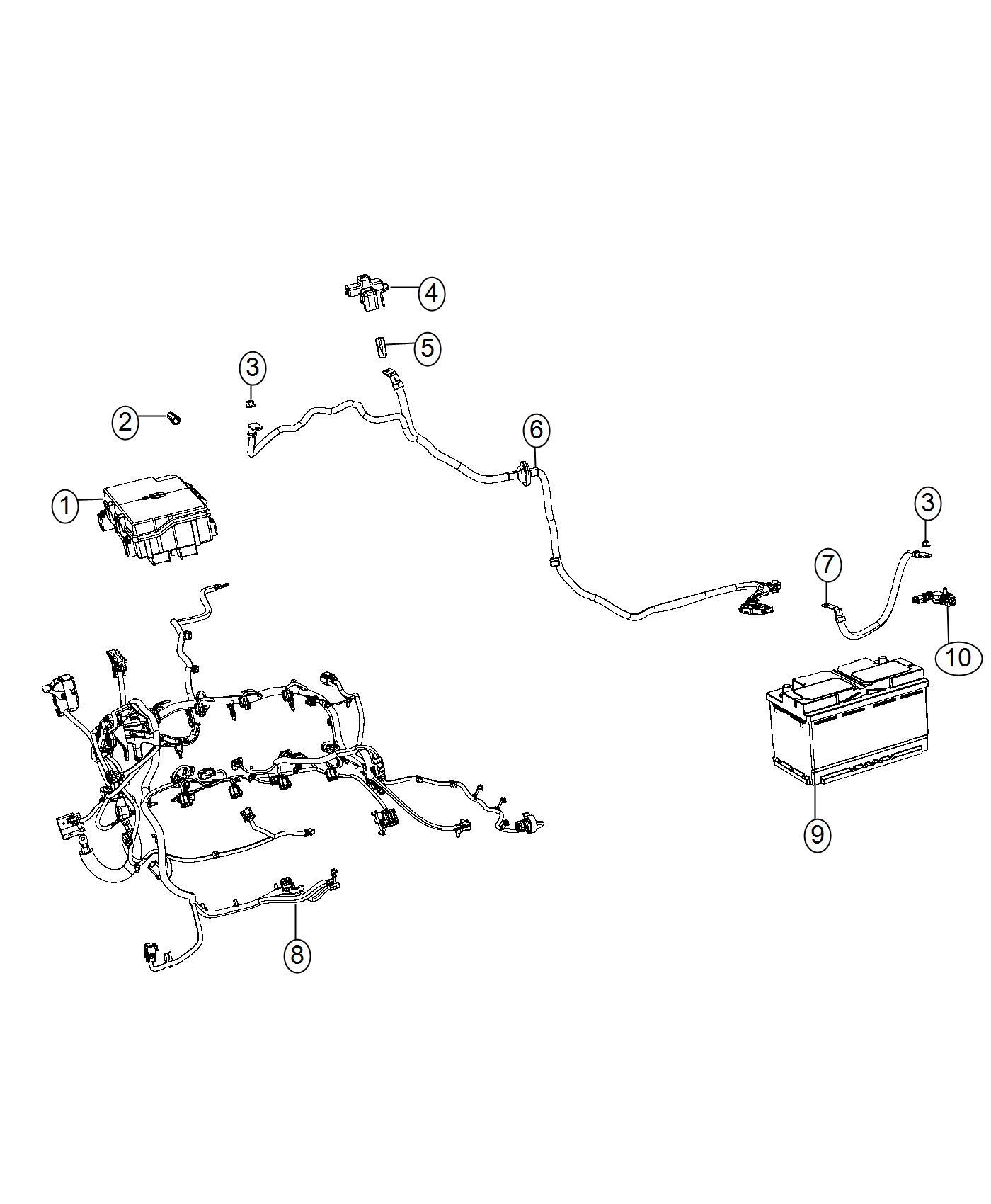 2017 Jeep Grand Cherokee Sensor. Battery. Negative cable