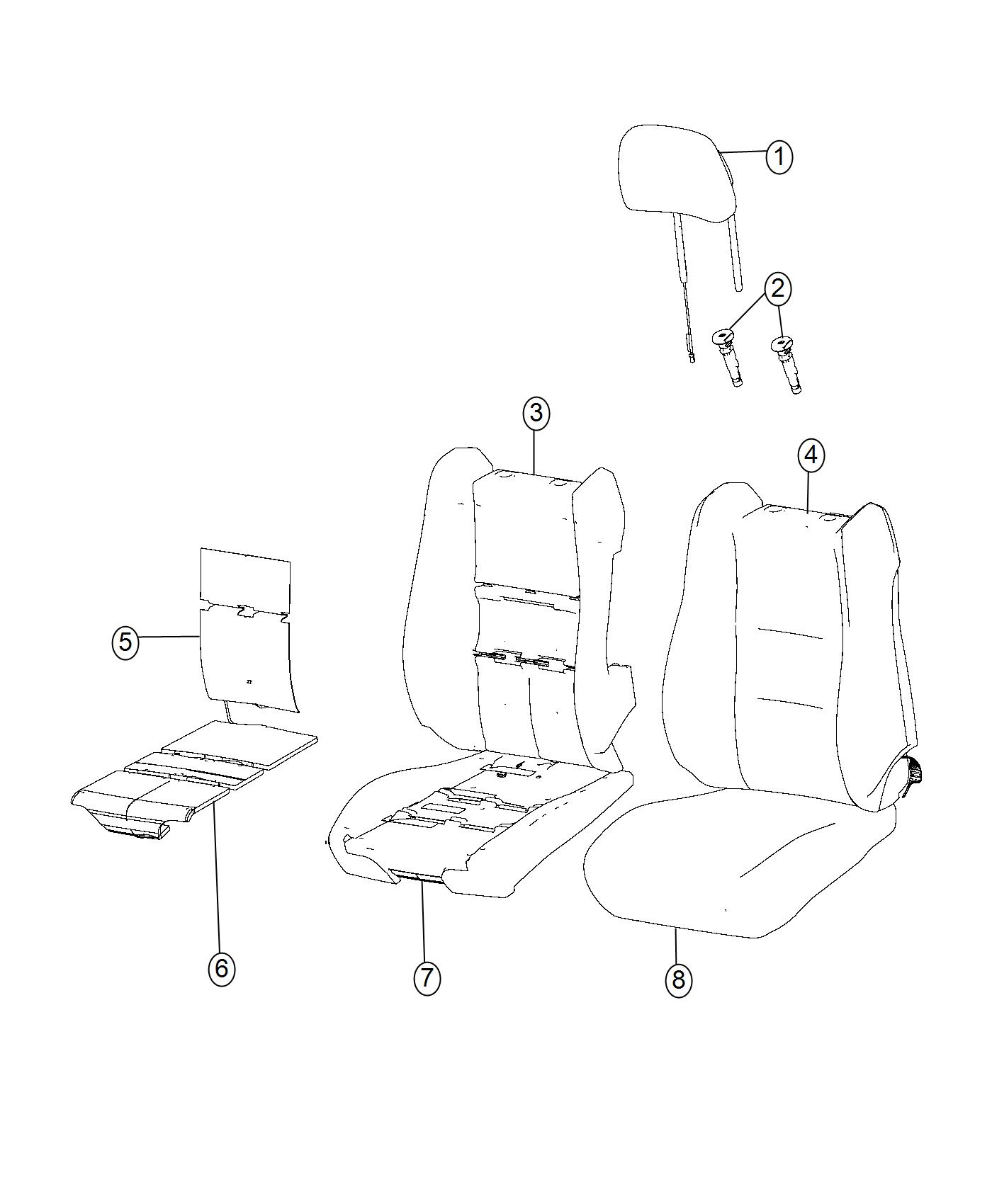 Jeep Grand Cherokee Cover Front Seat Back Left Export