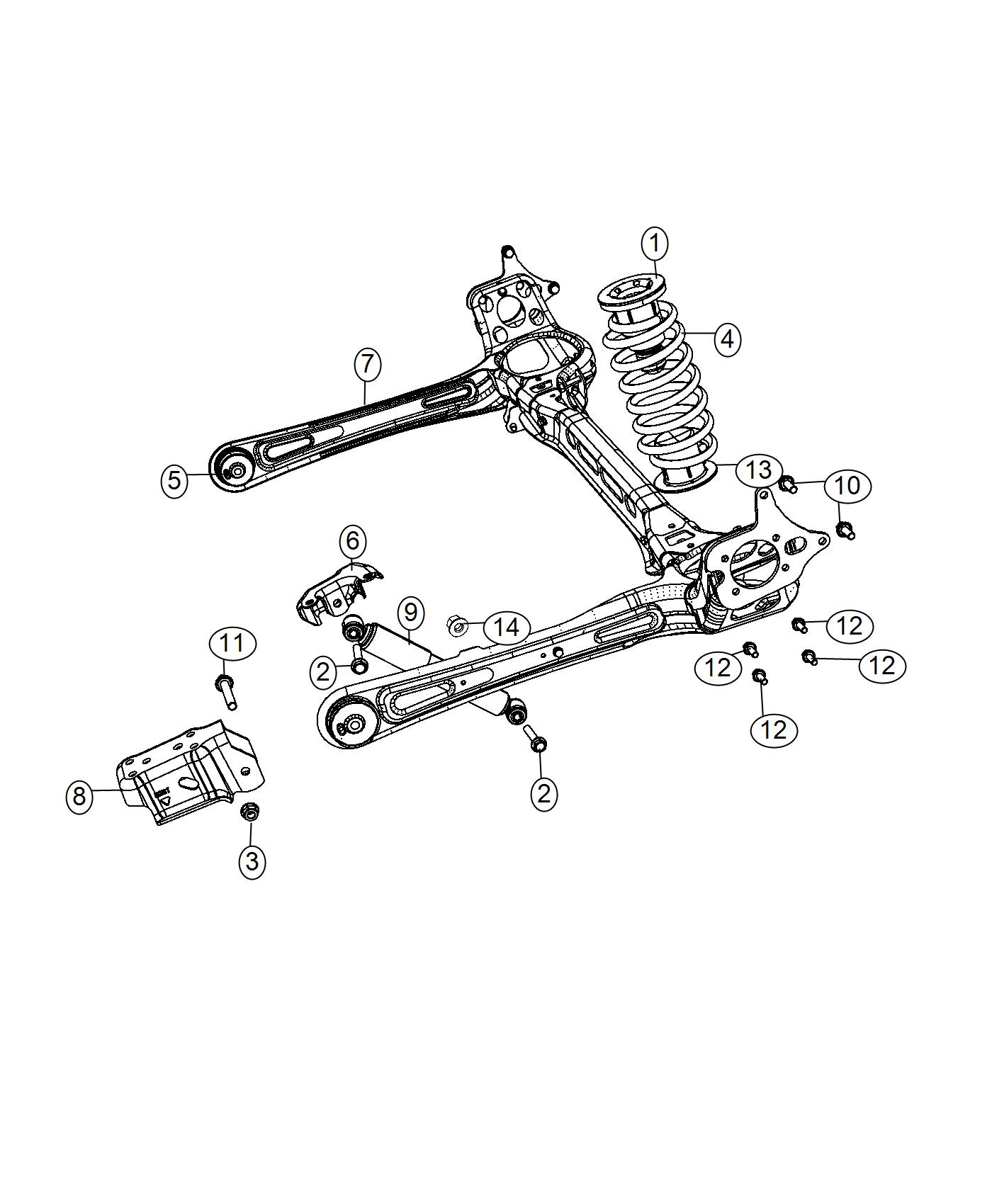Dodge Grand Caravan Axle Assembly Rear Suspension