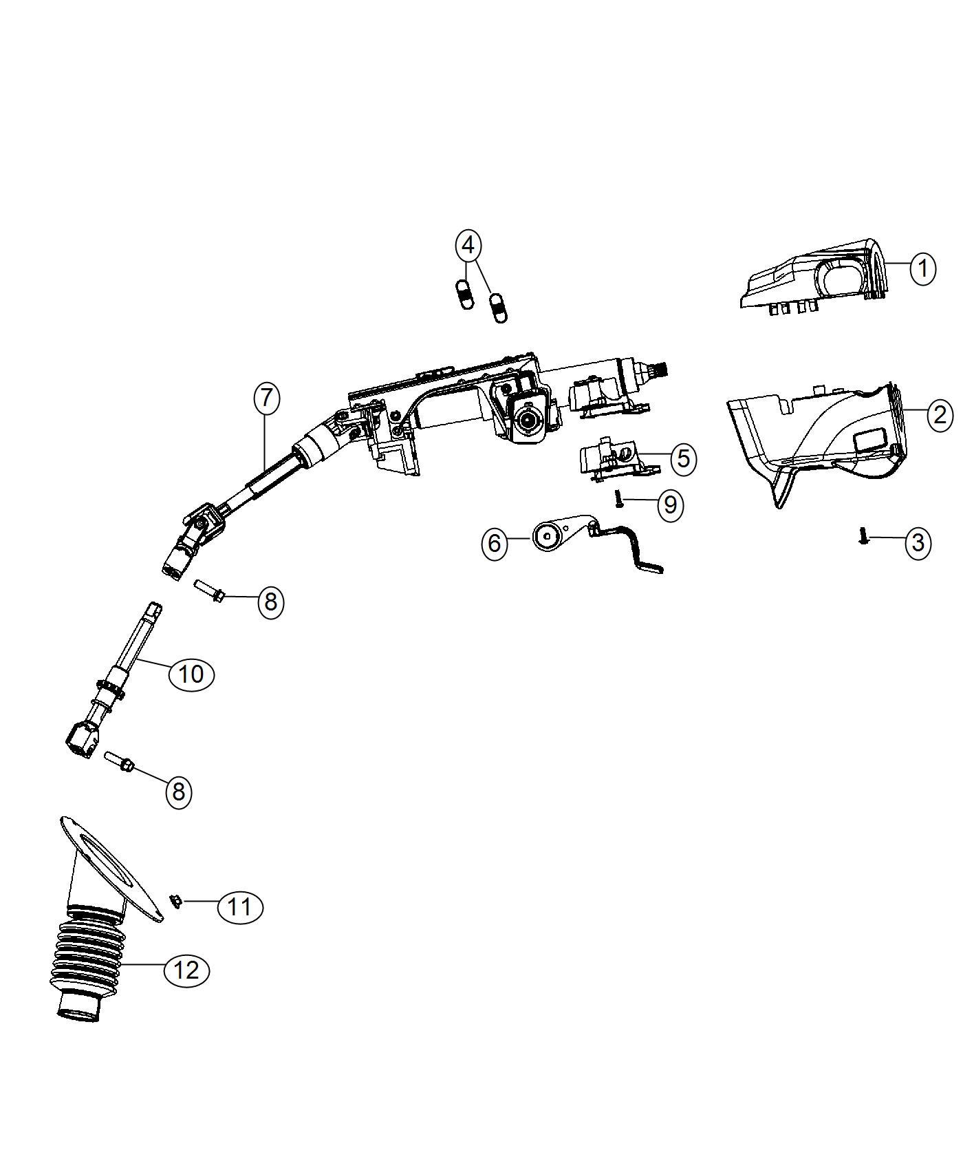 Dodge Grand Caravan Shroud Steering Column Lower Trim