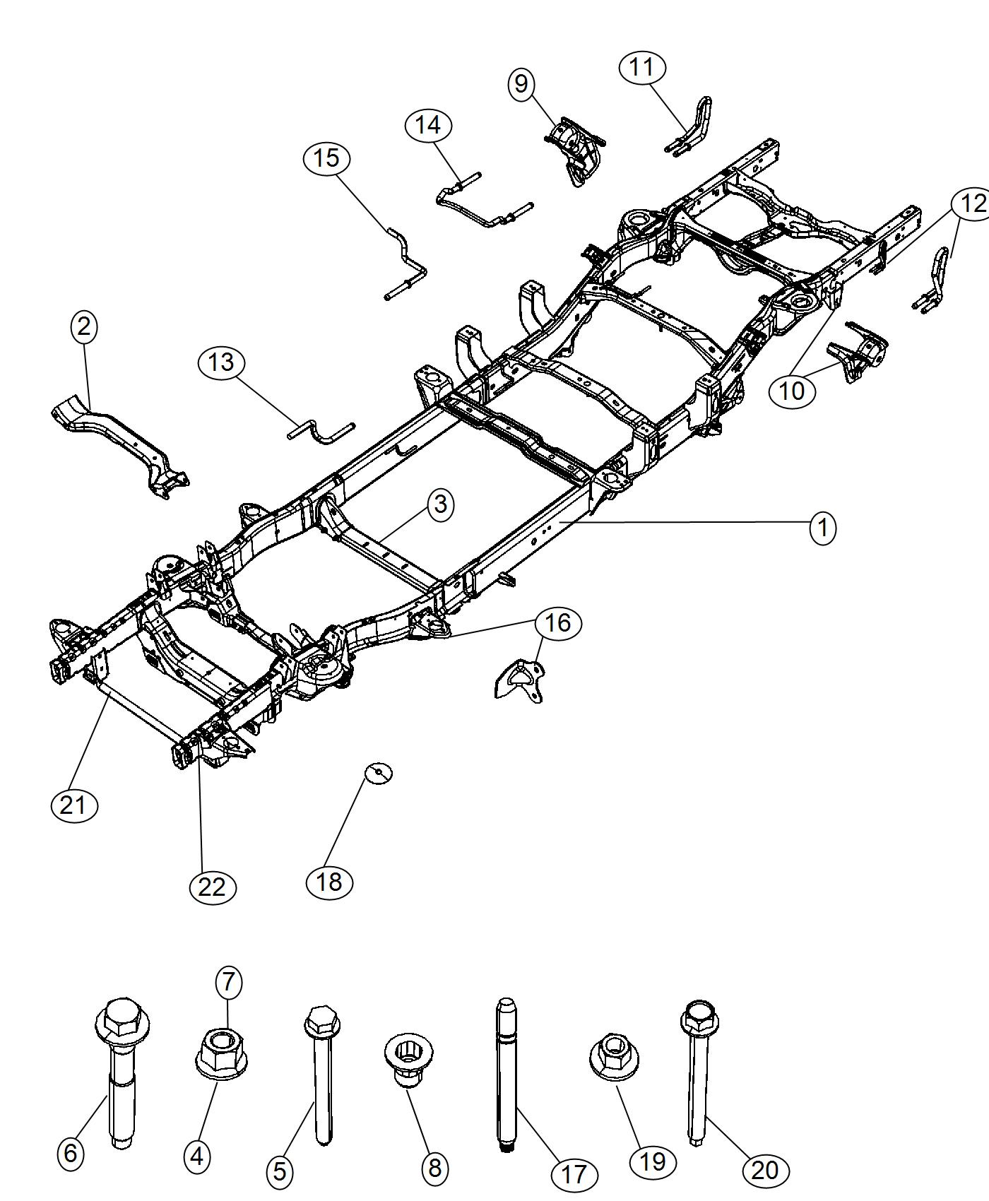 Ram Frame Assembly Chassis Engine Vvt Spd
