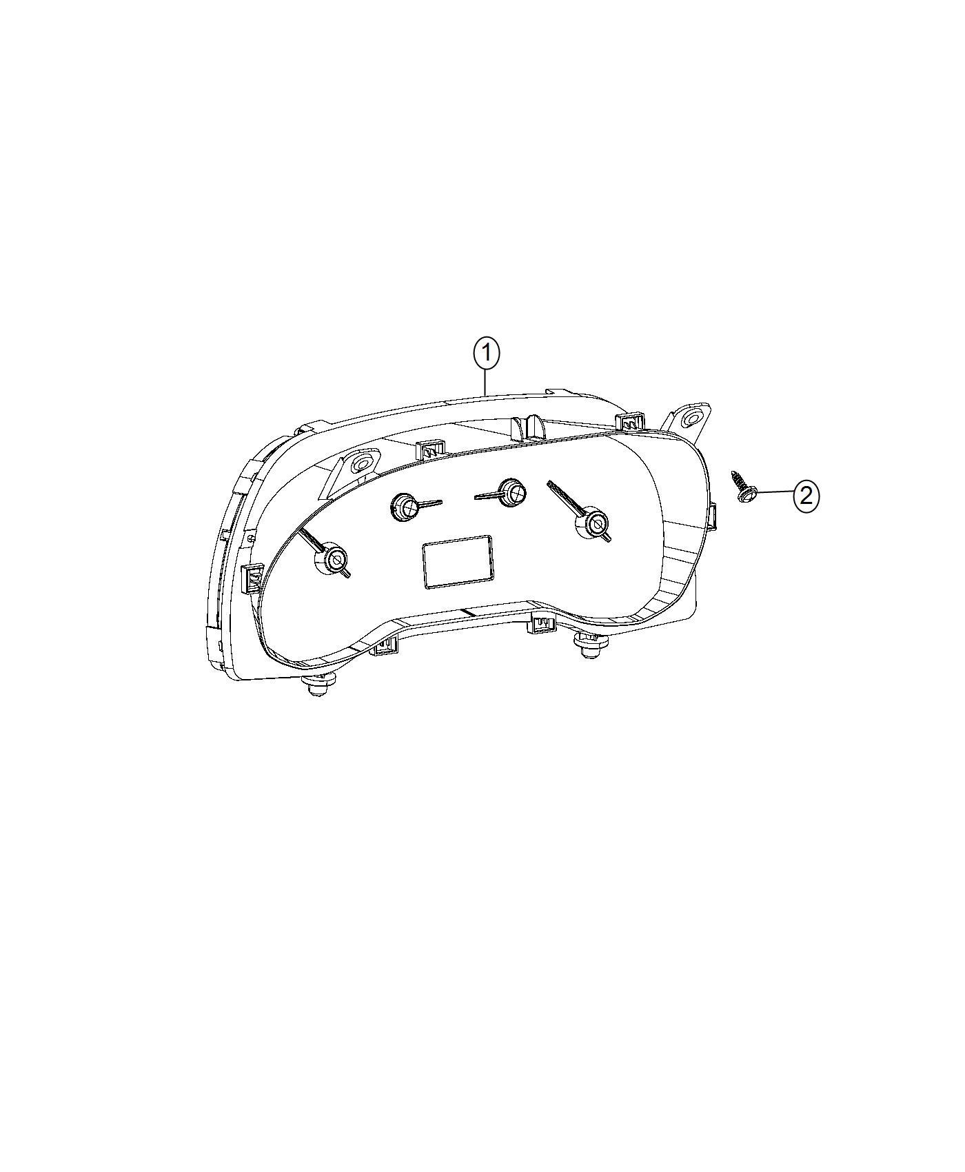 Ram Promaster City Wagon Slt Cluster Instrument