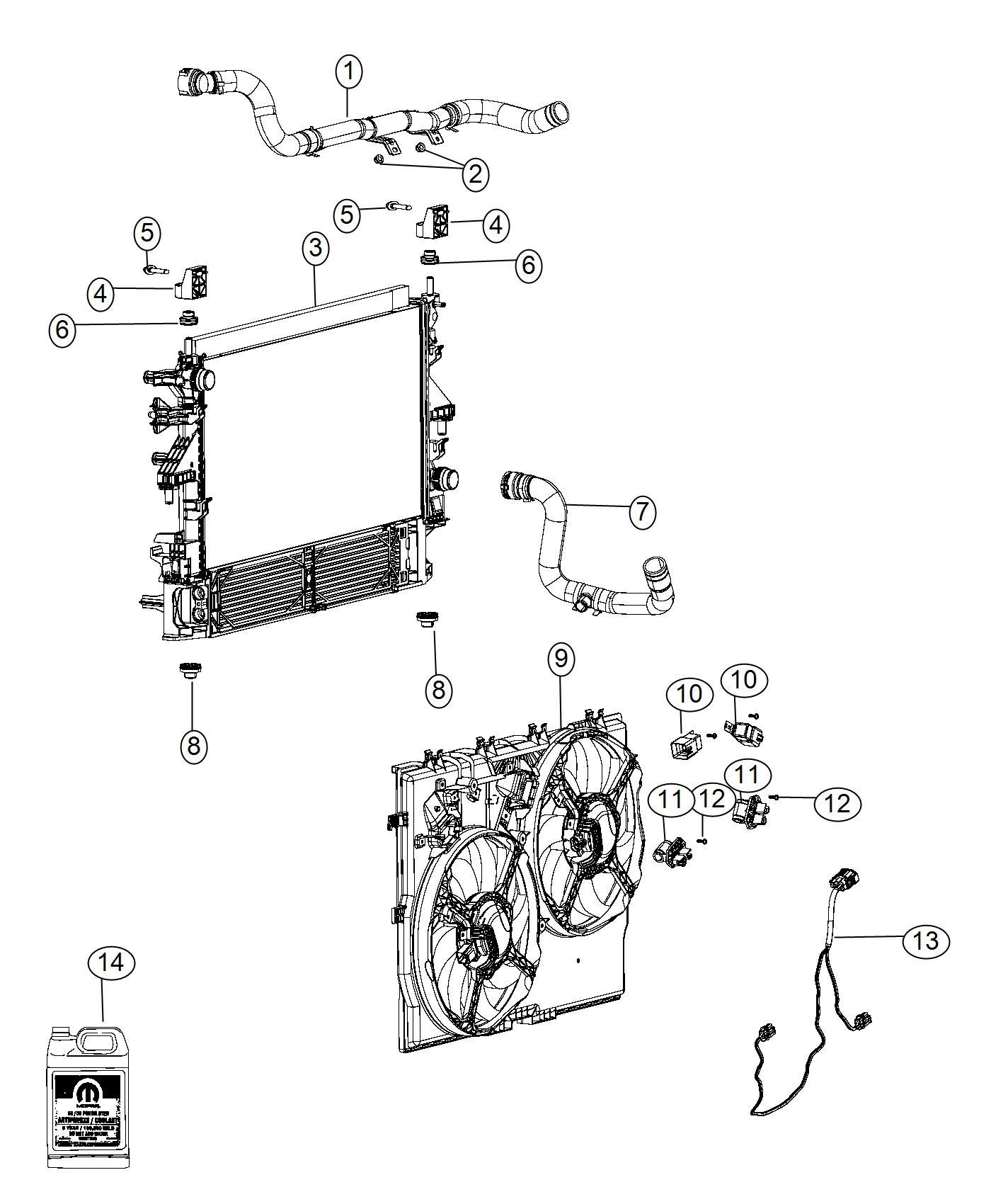 Dodge Ram Radiator Engine Cooling Air Conditioning