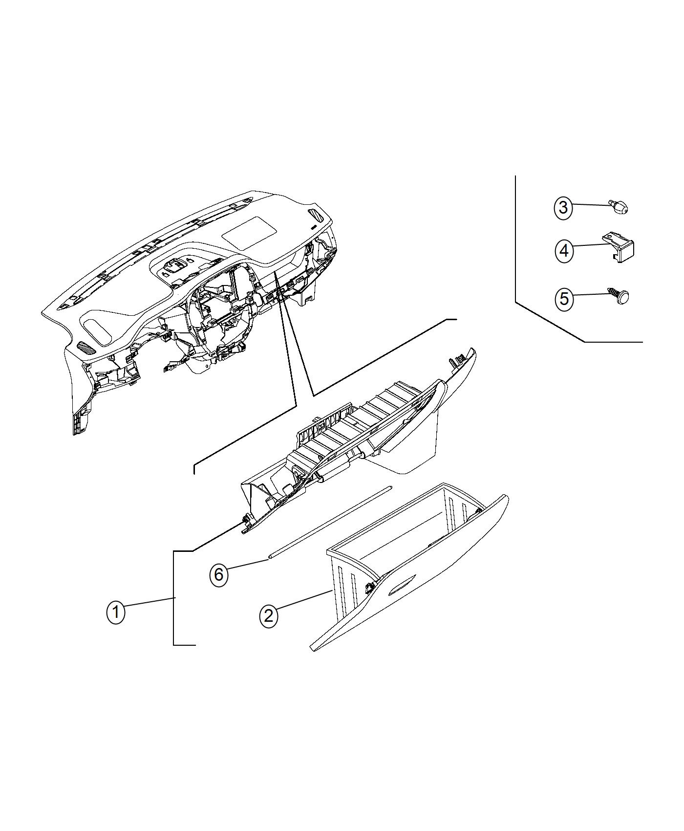 2016 Ram PROMASTER CITY WAGON Pin. Instrument, panel, trim