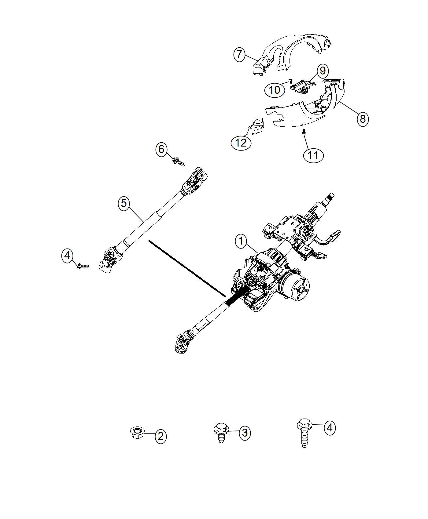 Jeep Renegade Screw Steering Column