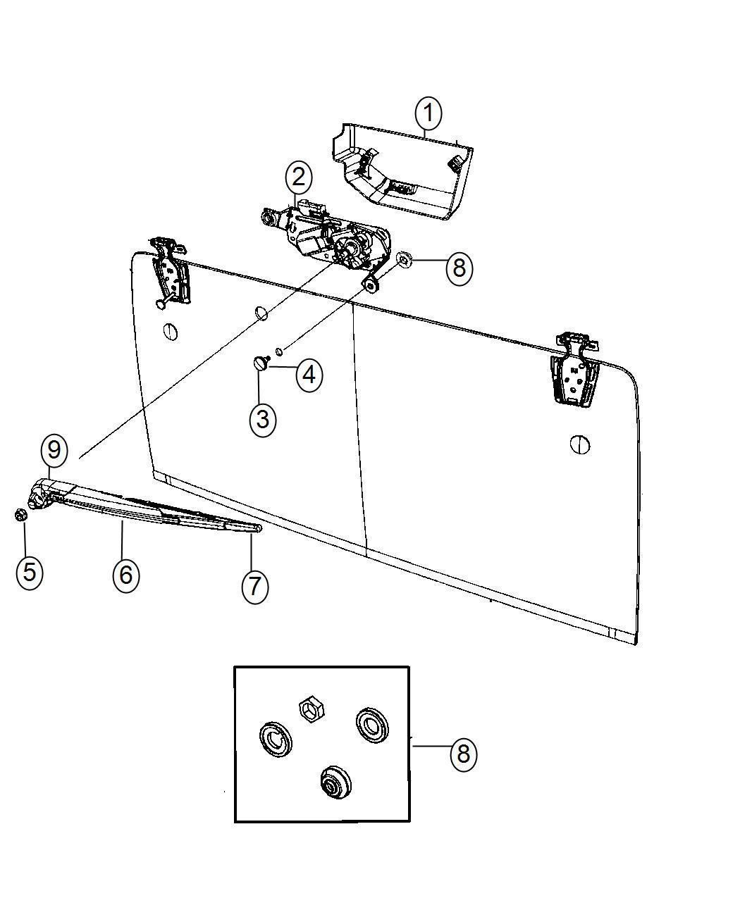 jeep wrangler rear window defroster