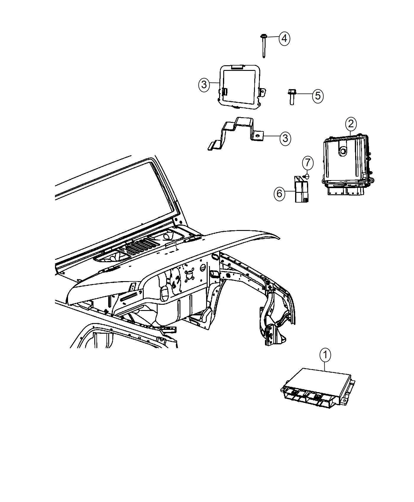 Jeep Wrangler Module Glow Plug Modules Compartment