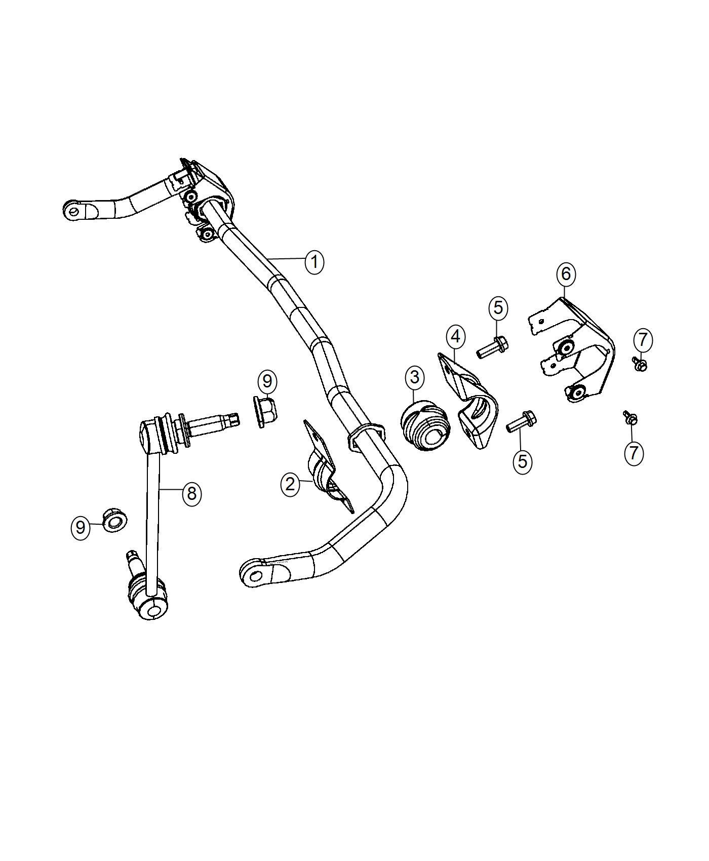 Chrysler 300 Bushing. Stabilizer bar. Suspension, front