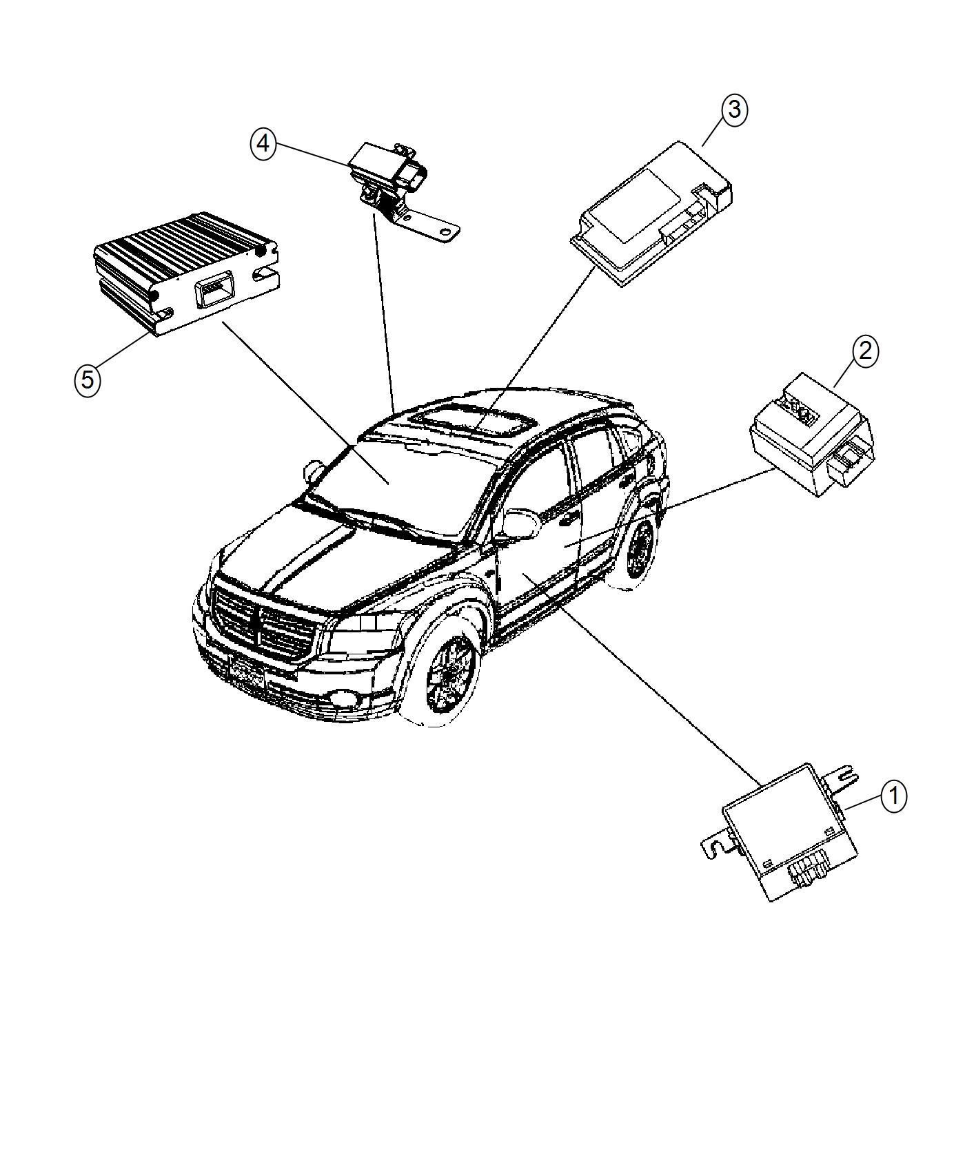 2016 Jeep Compass Module. Export. Telematics. Nav, radios