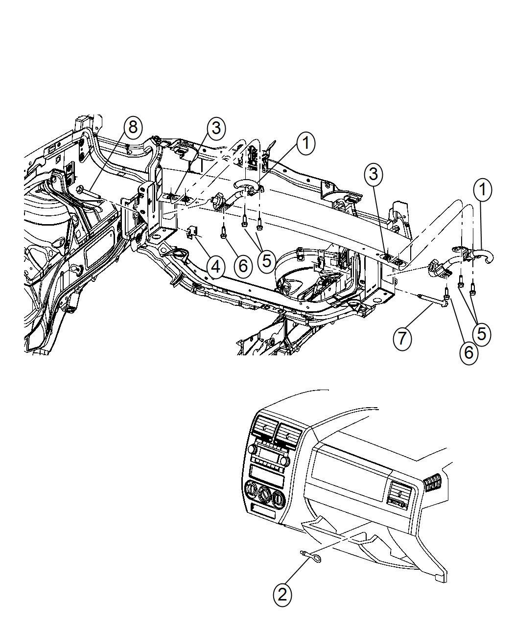 2017 Jeep Patriot Hook. Tow. [tow eye brackets