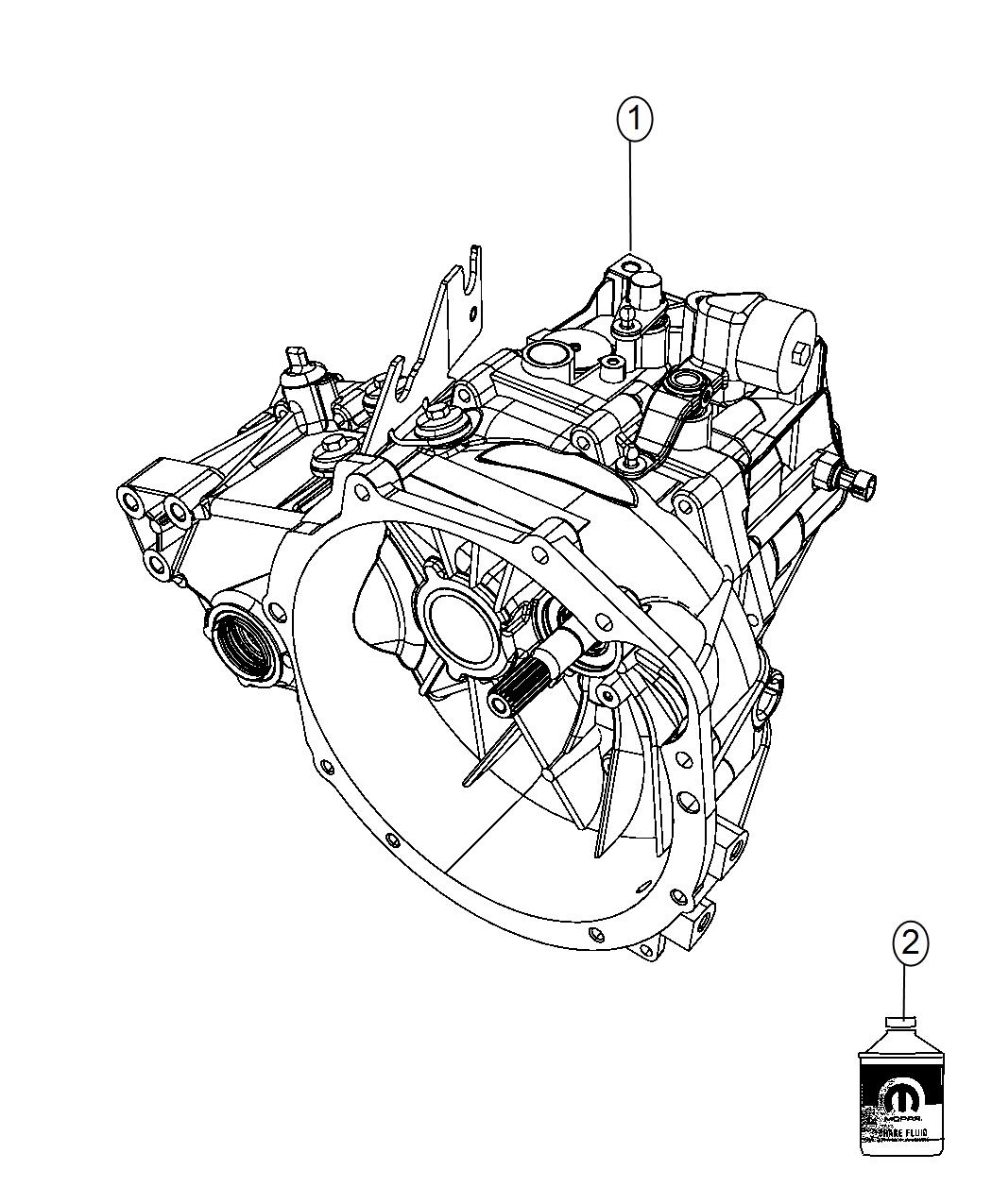 Jeep Compass Transaxle Transmission 5 Speed Module