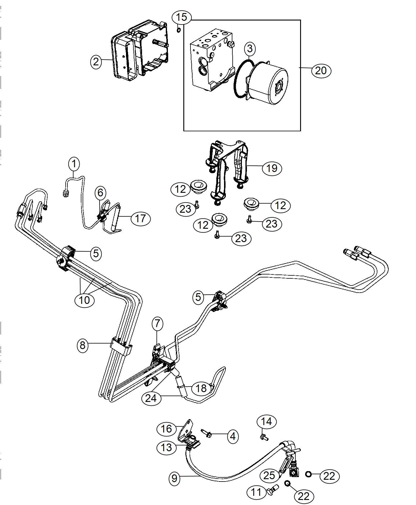 2017 Dodge Challenger Module. Anti-lock brake system