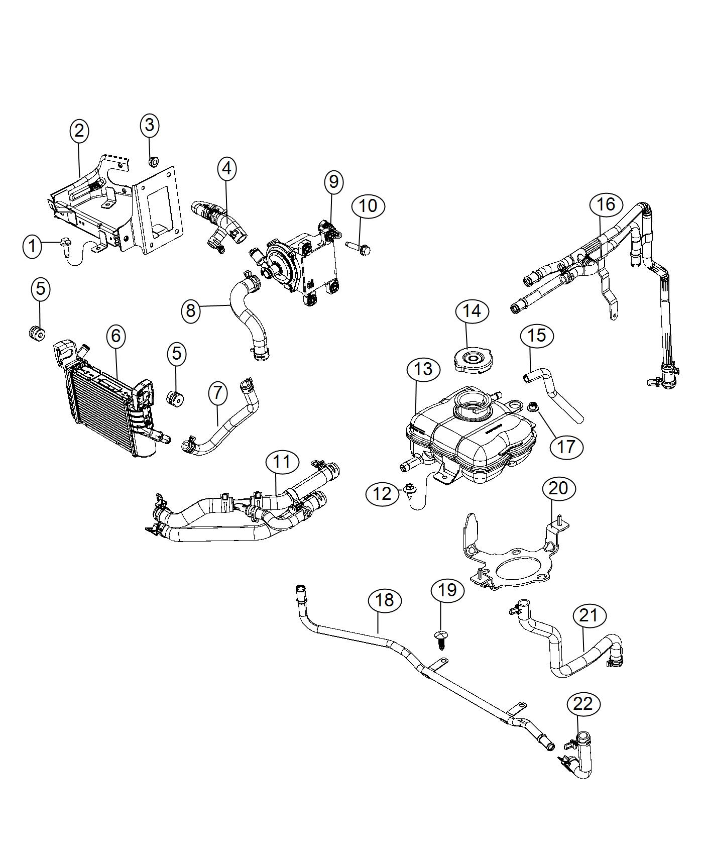 2017 Dodge Challenger Hose. Coolant. Cooling, ltr, system
