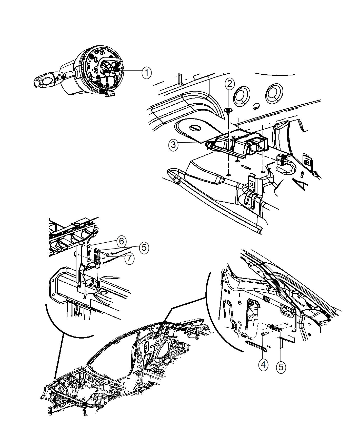 Dodge Challenger Module. Occupant restraint. [3.6l v6 24v