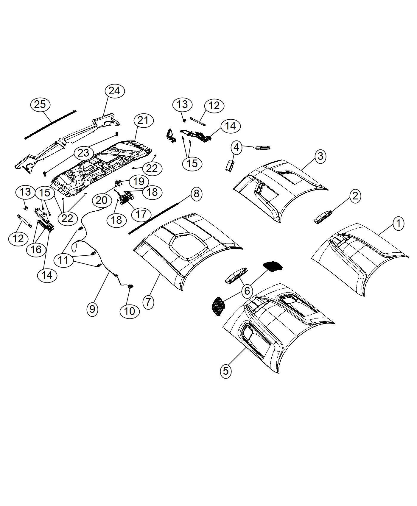 2017 Dodge Challenger Handle. Inside release. [6-speed