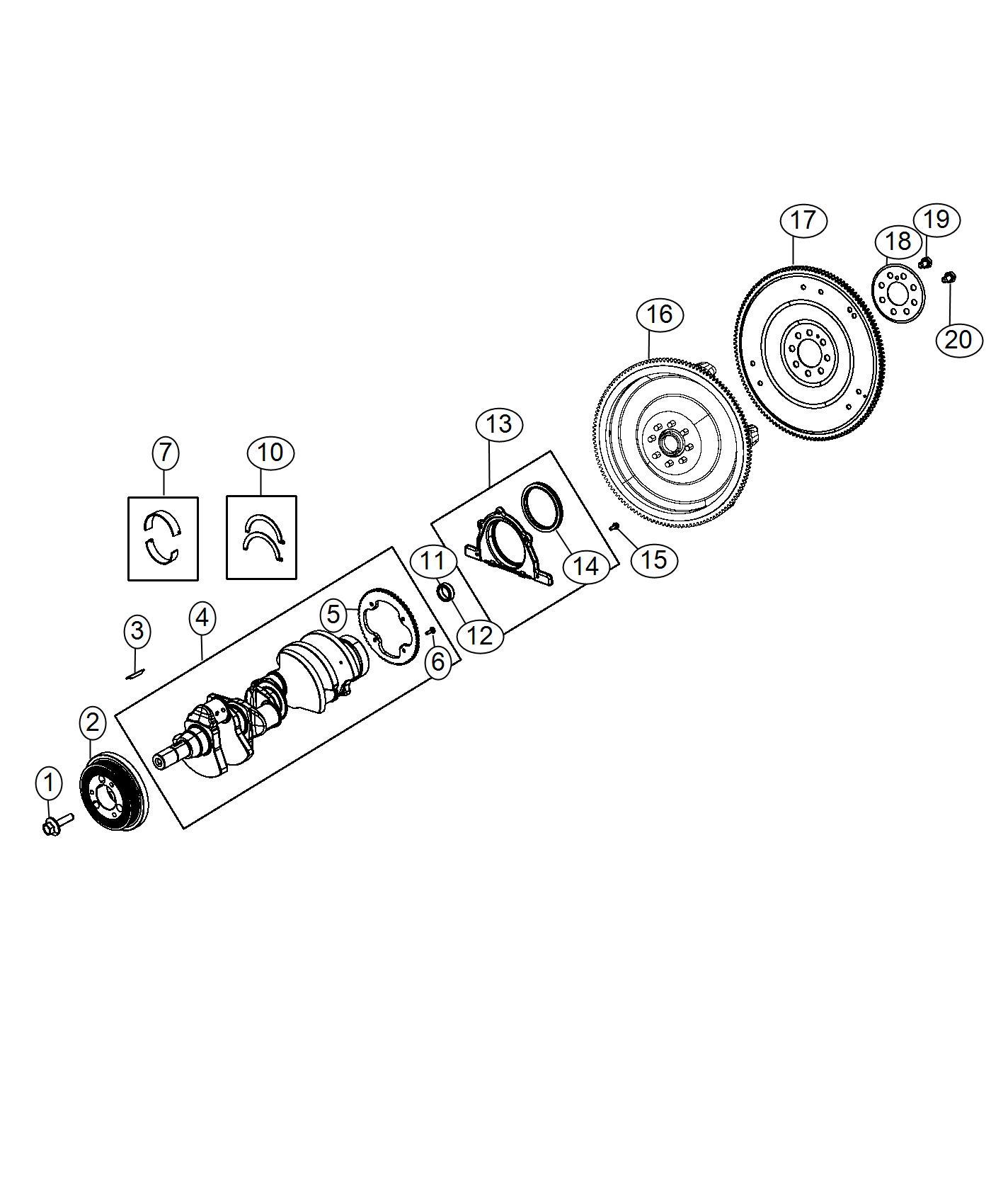 Dodge Challenger Bearing Kit Crankshaft C Grade
