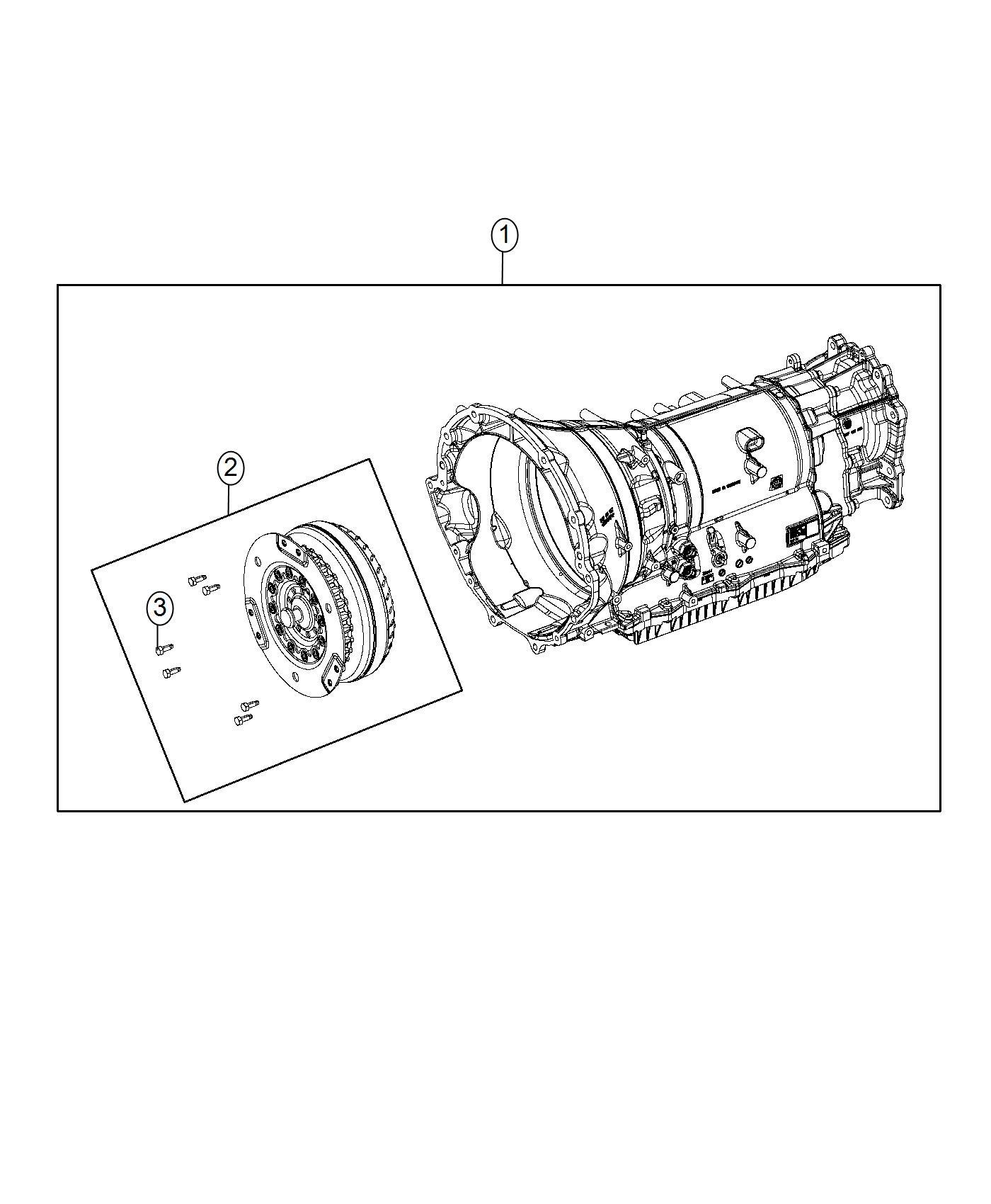 Dodge Challenger Transmission. With torque converter