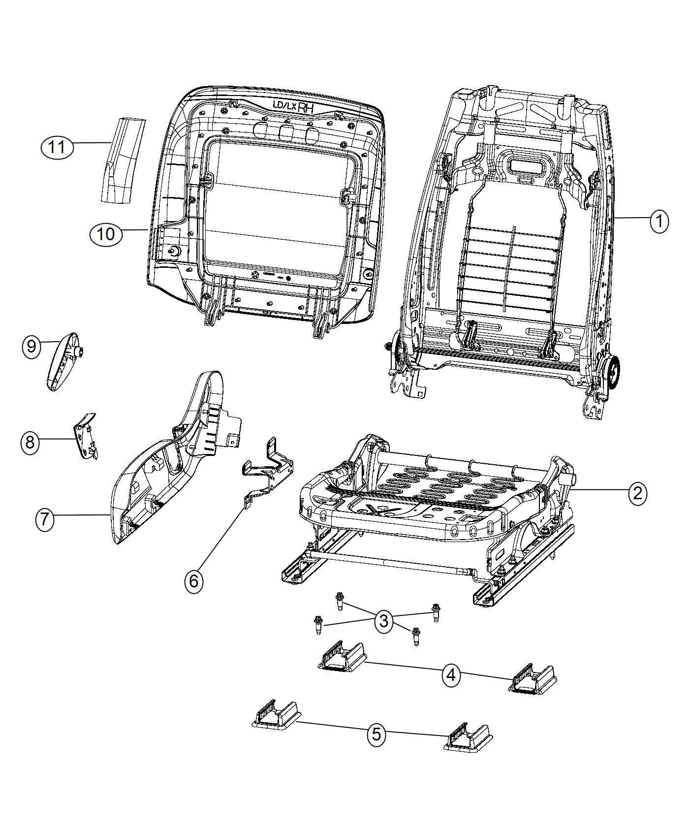 Dodge Charger Adjuster. Manual seat. Trim: [hellcat logo