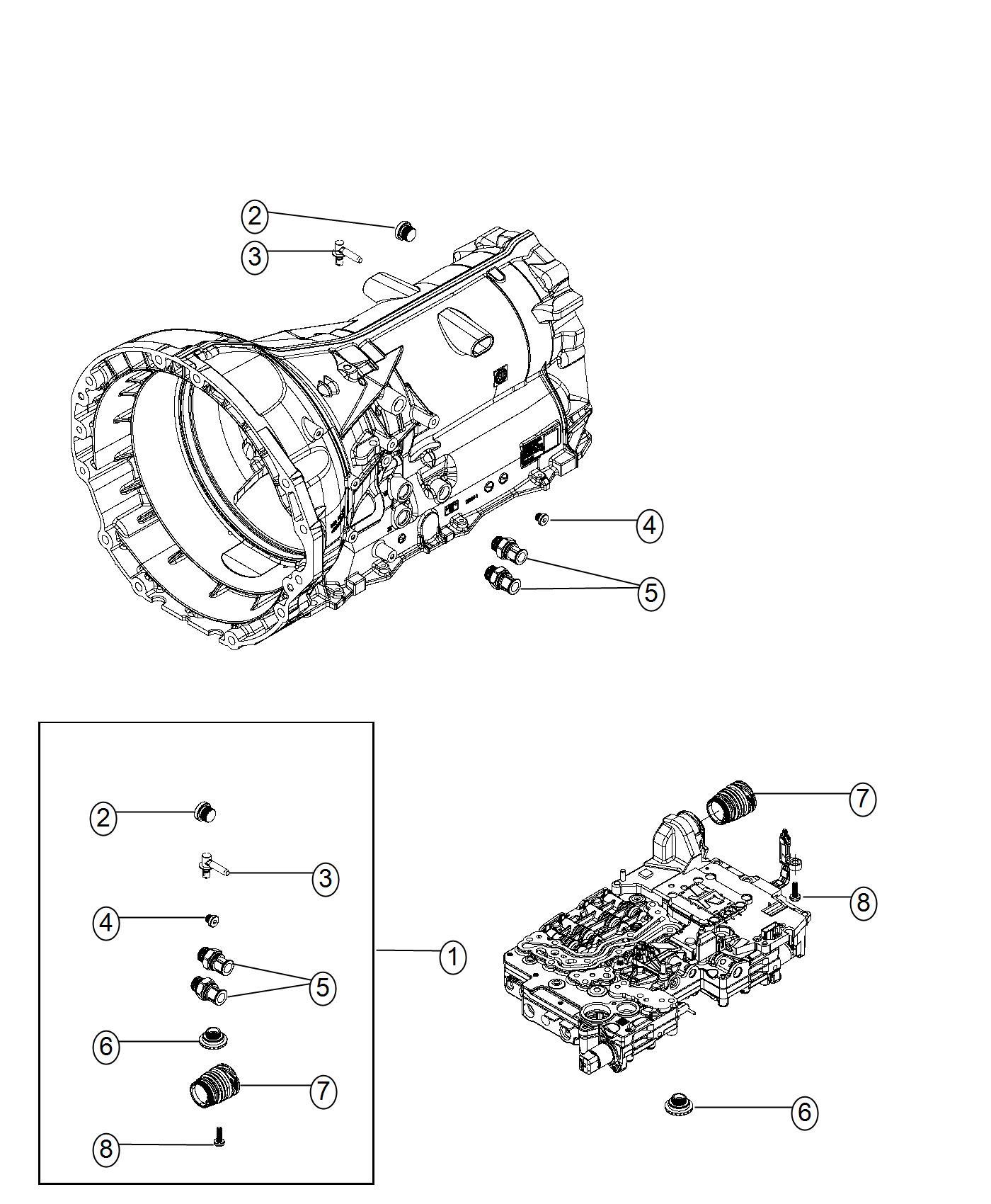 Dodge Charger Plug Kit Transmission