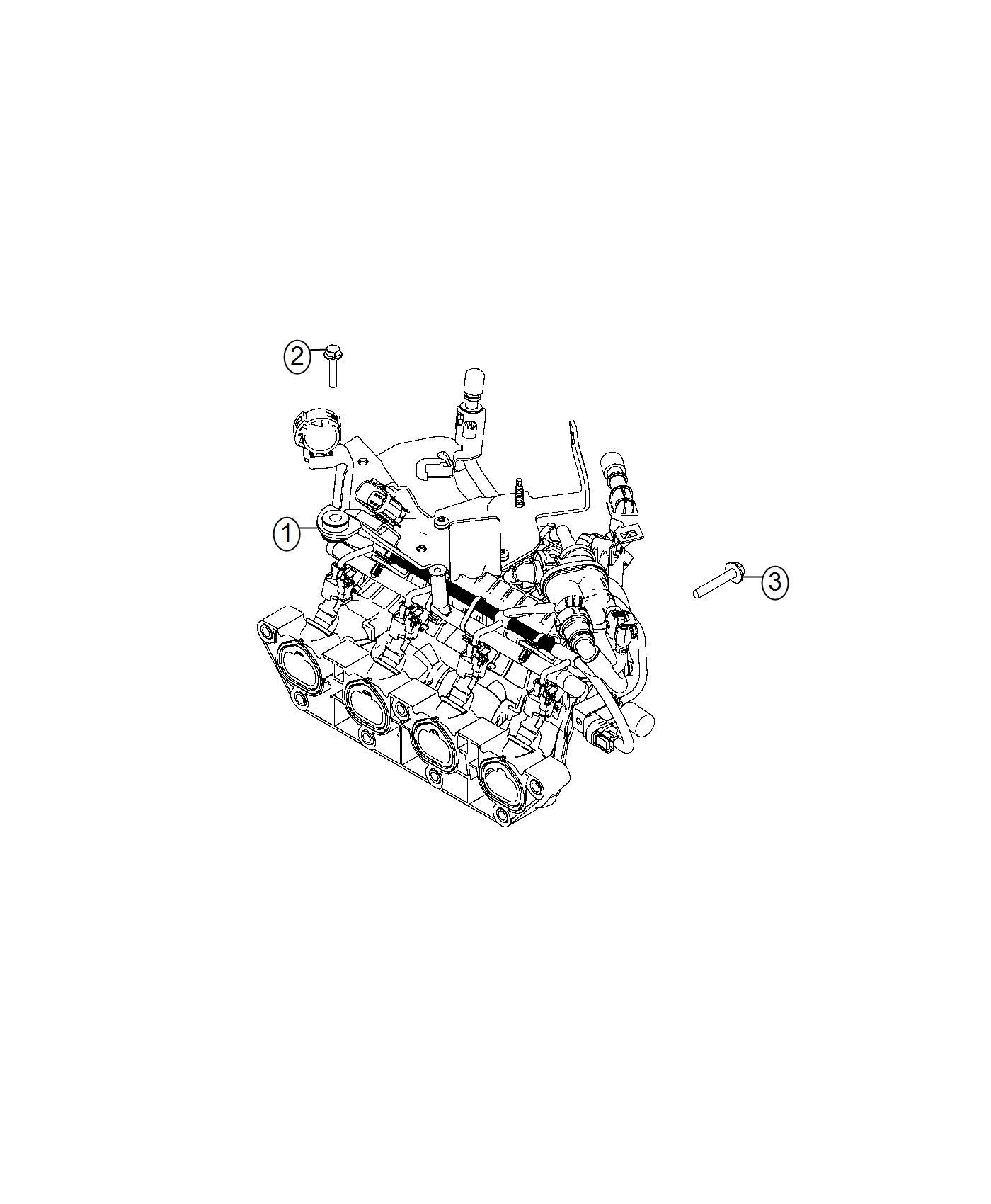 Fiat SPIDER Manifold. Engine intake, intake. Wiring, fuel