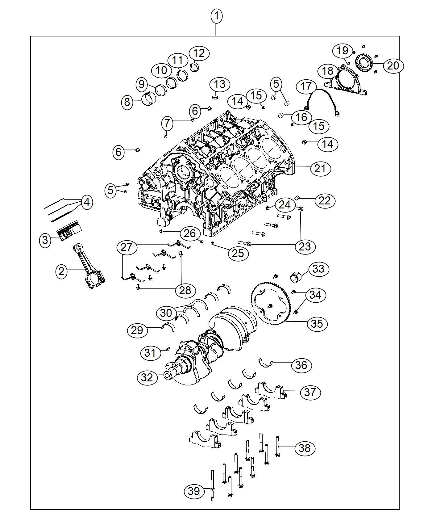 2017 Jeep Grand Cherokee Jet. Piston oil cooler. Engine