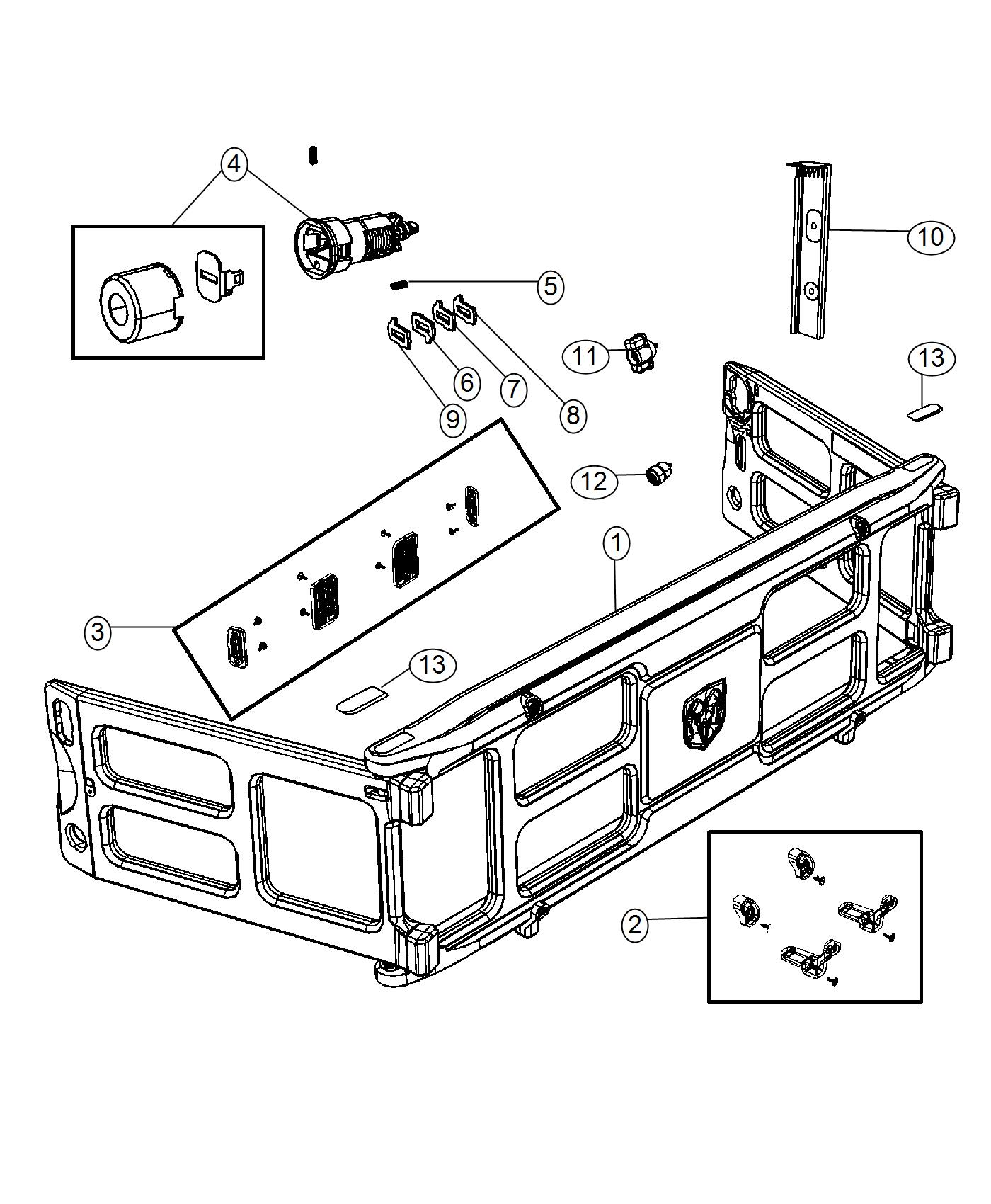 2016 Ram 2500 Panel. Pickup box extension. [truck bed
