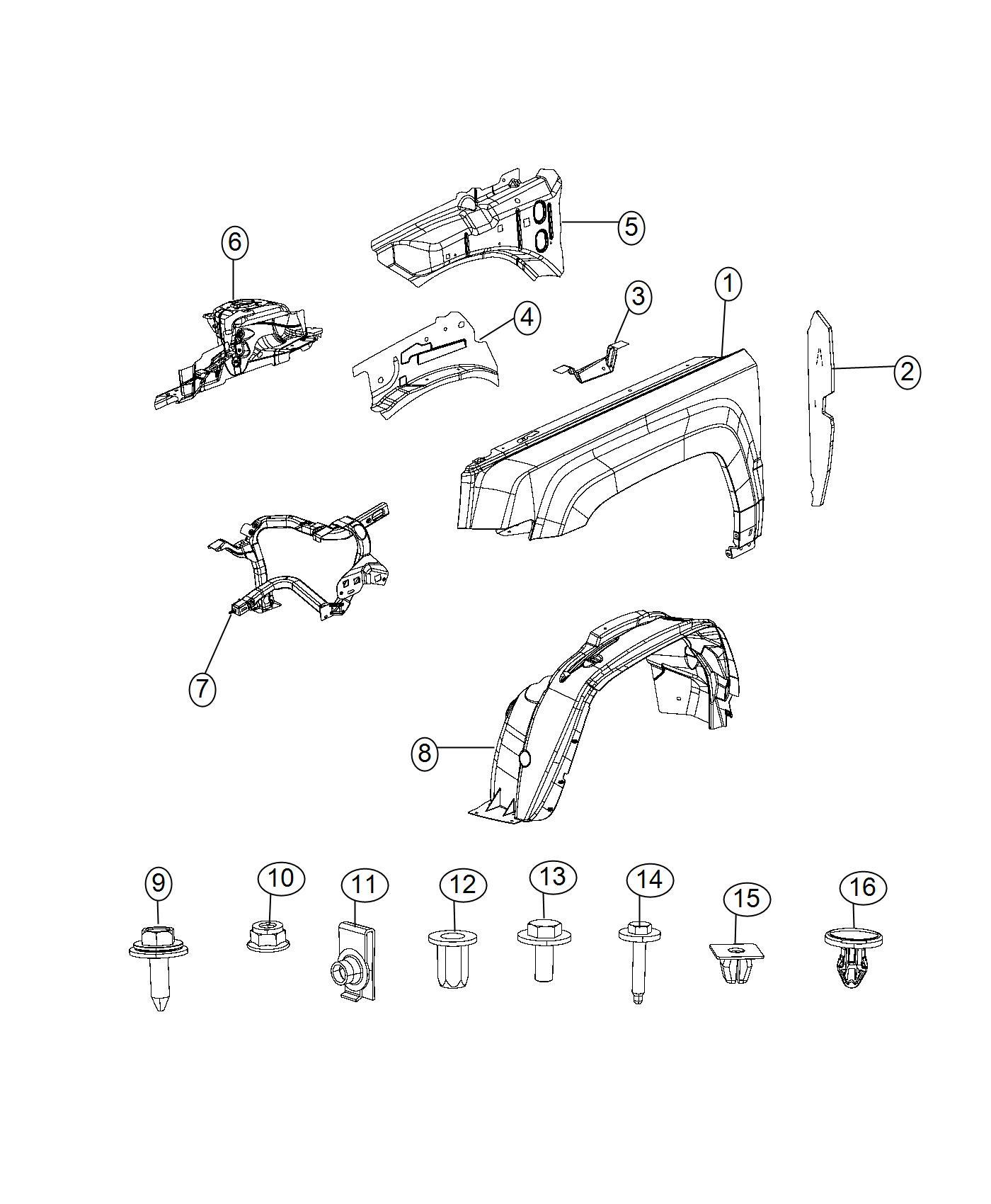Jeep Patriot Bolt, screw. Hex flange head. M6x1.00x16.00