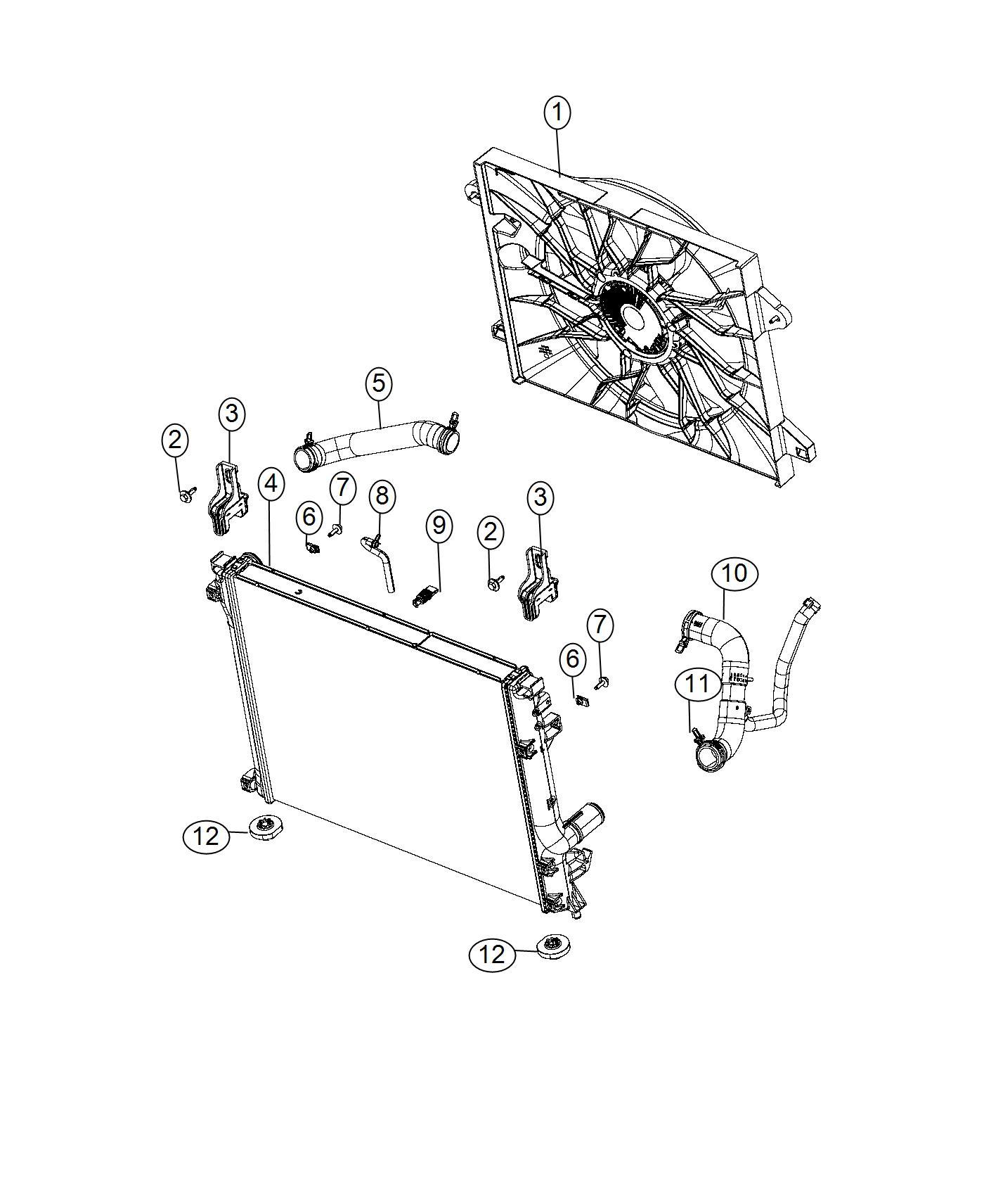 Dodge Challenger Fan Module Radiator Cooling