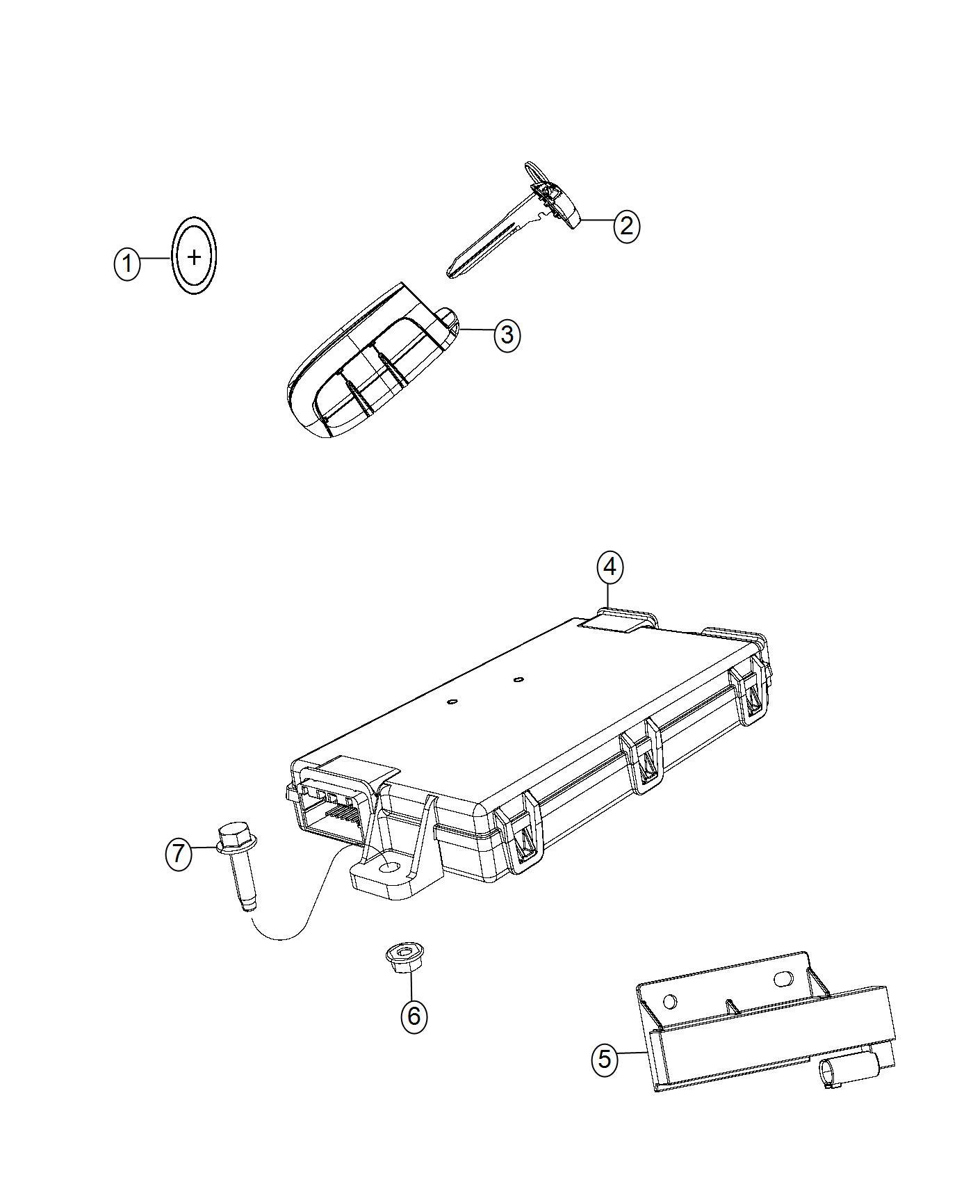 Dodge Viper Transmitter Integrated Key Fob